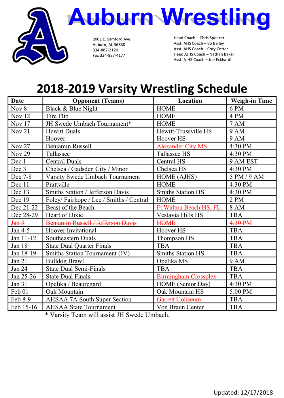 Schedules / Directions Pertaining To Oak Mountain High School Calendar