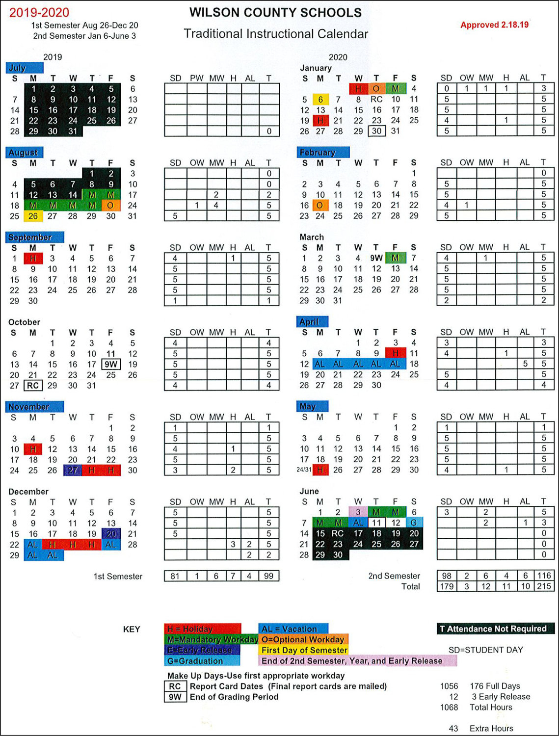 School Board Approves 2019 20 Calendars | The Wilson Times In Wake County School System Calendars