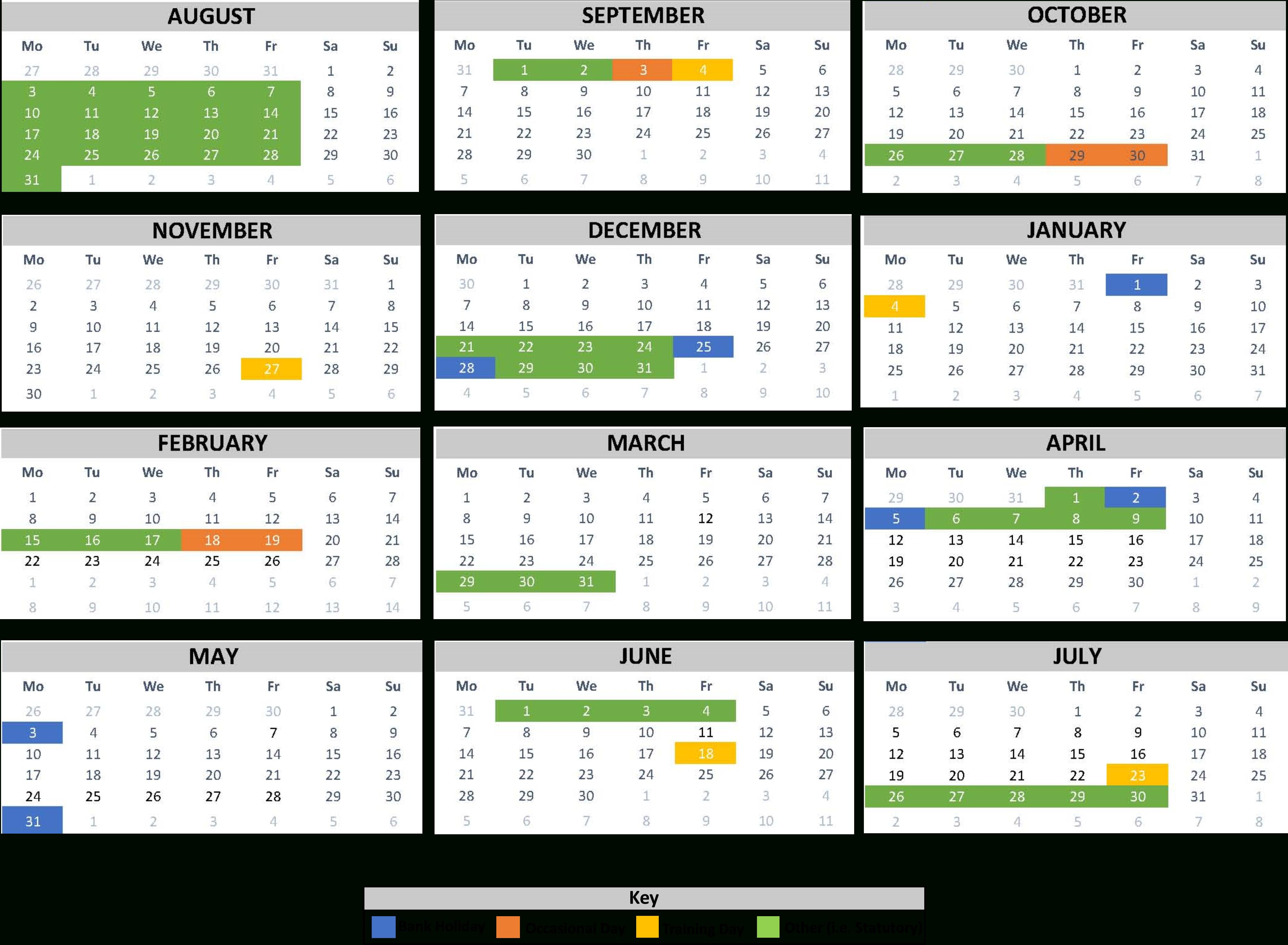School Calendar | Beckfoot School Throughout University Of Phoenix Holiday Calendar 2020