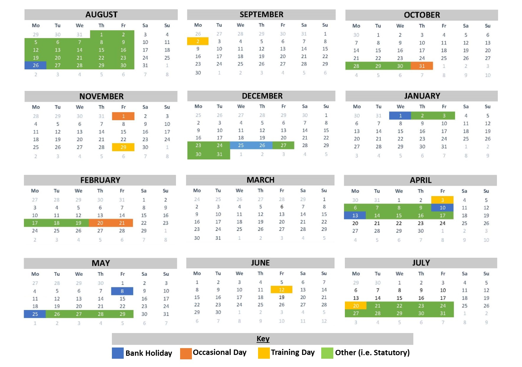 School Calendar | Beckfoot School Within University Of Phoenix Holiday Calendar 2020