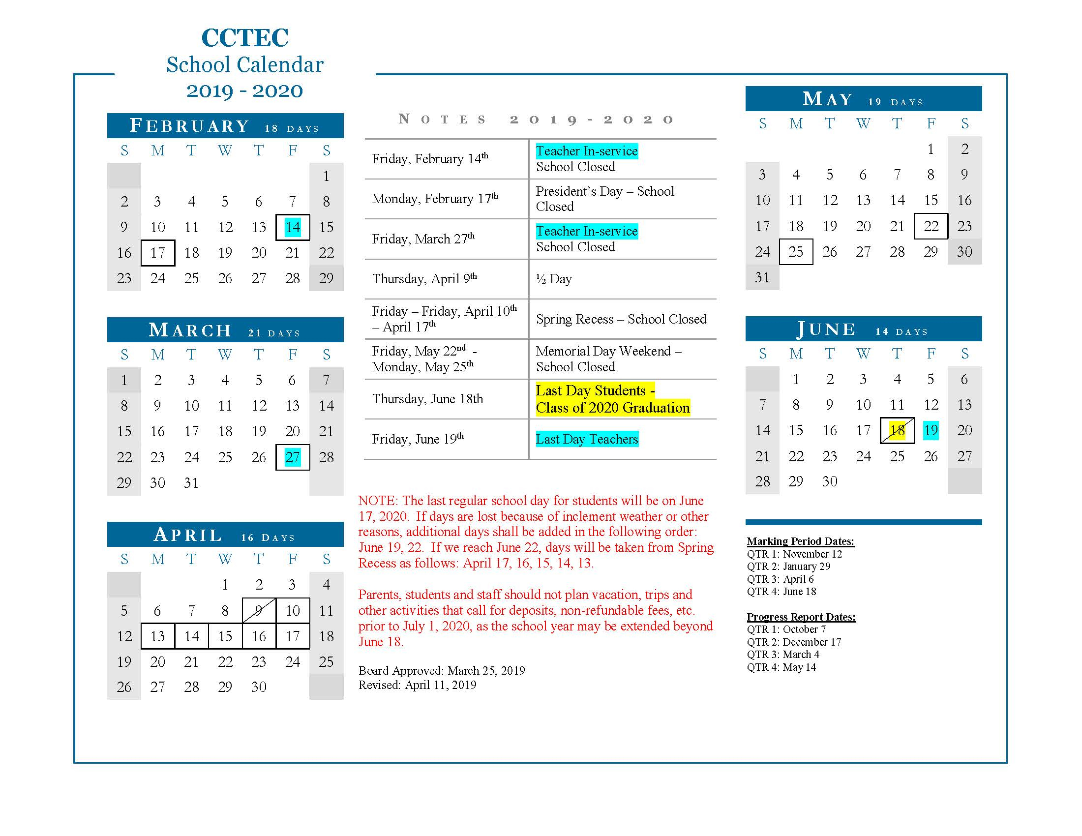 School Calendar | Board | Cumberland County Tec Regarding New Jersey School Public Educatiom Calendar