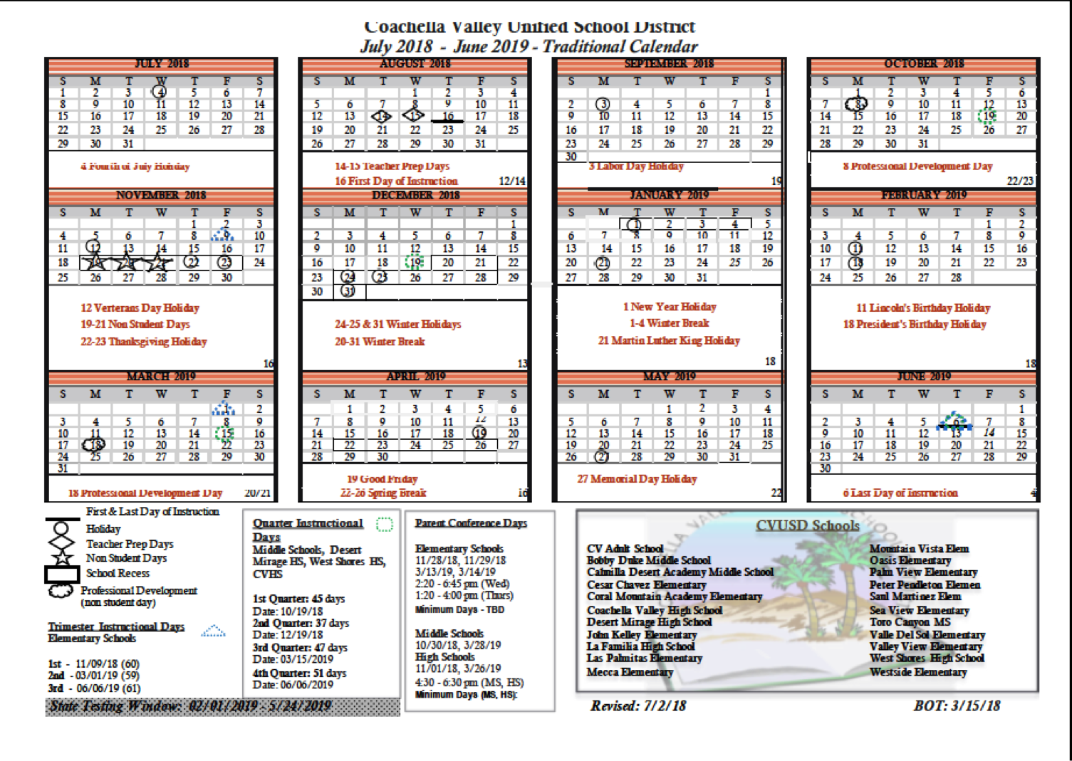 School Calendar – Bobby Duke Middle School Within West Palm School Calendar