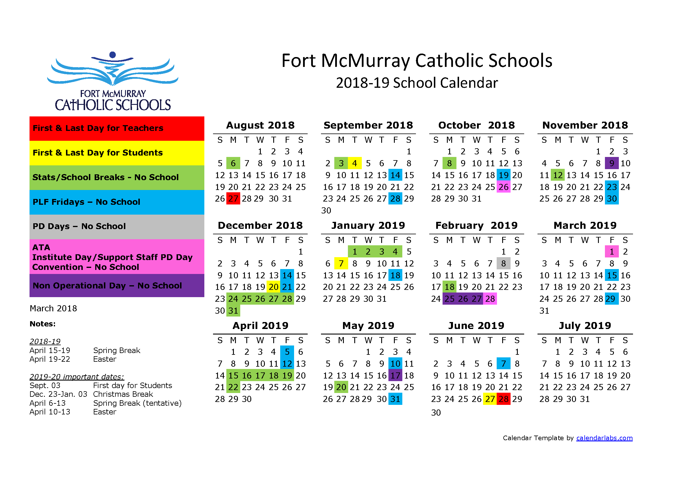 School Calendar | Coursework Sample March 2020 Regarding Norco Unified School District Calendar