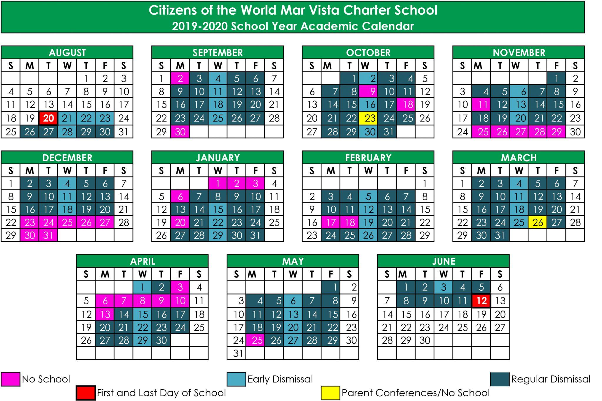 School Calendar | Cwc Mar Vista With Oxnard High School Calendar 2021