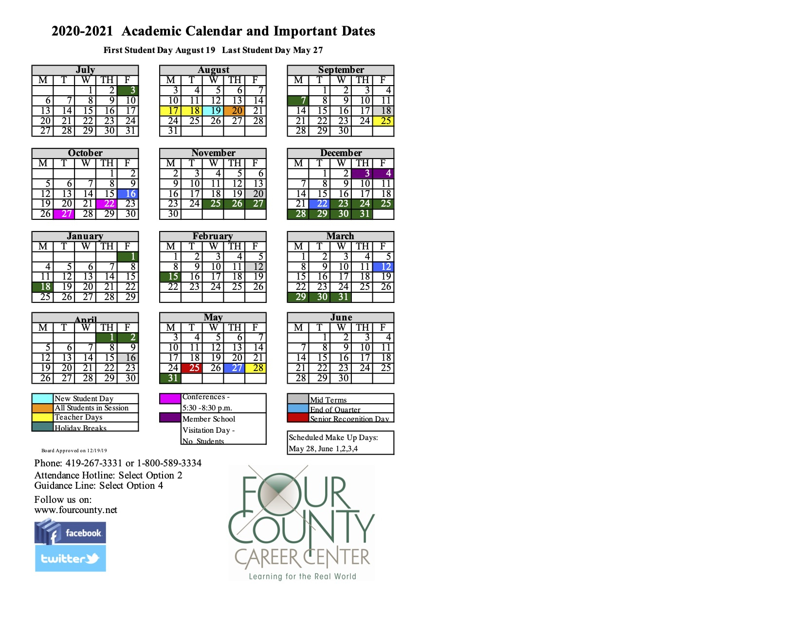 School Calendar for University Of Findlay Academic Calendar 2021