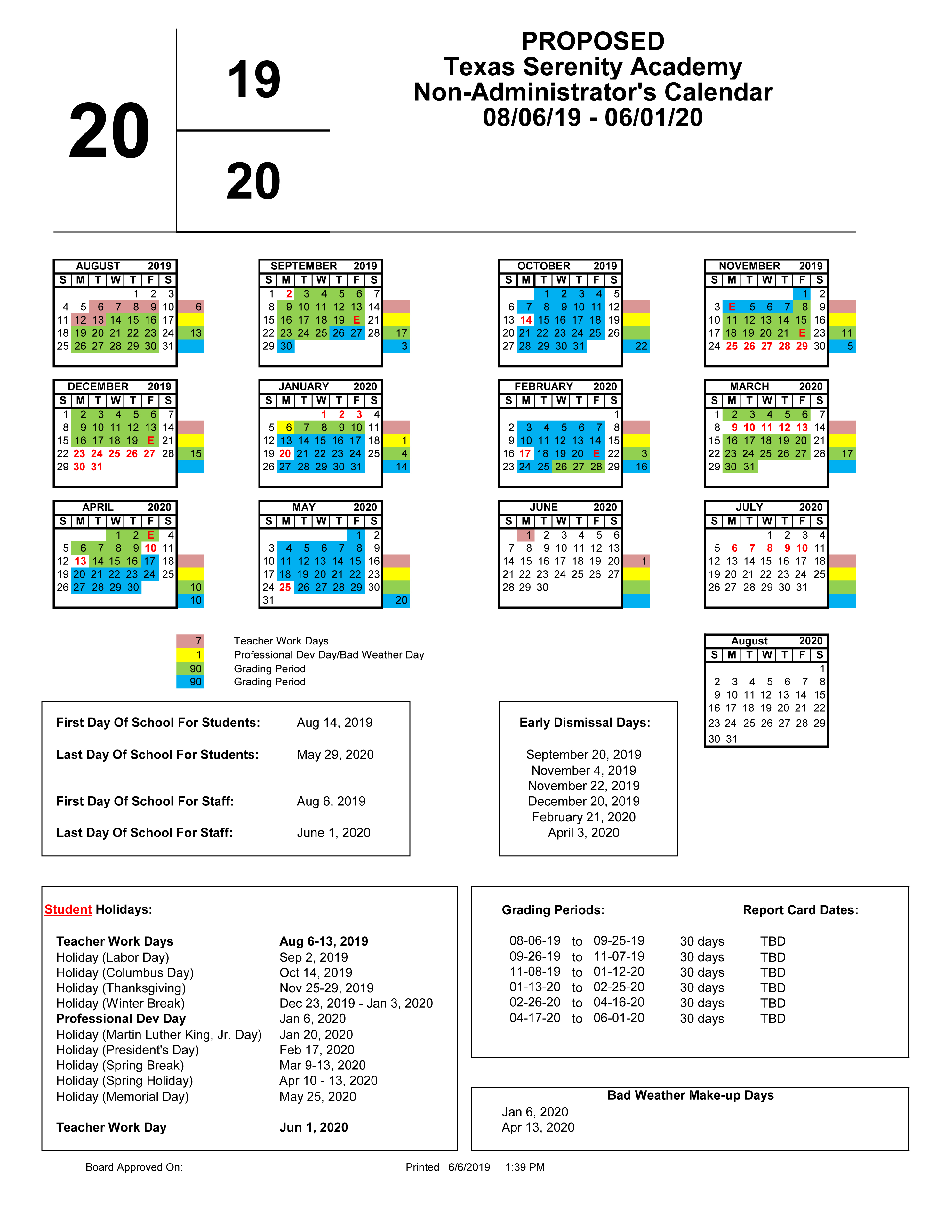 School Calendar – Texas Serenity Academy With New Caney School Calendar