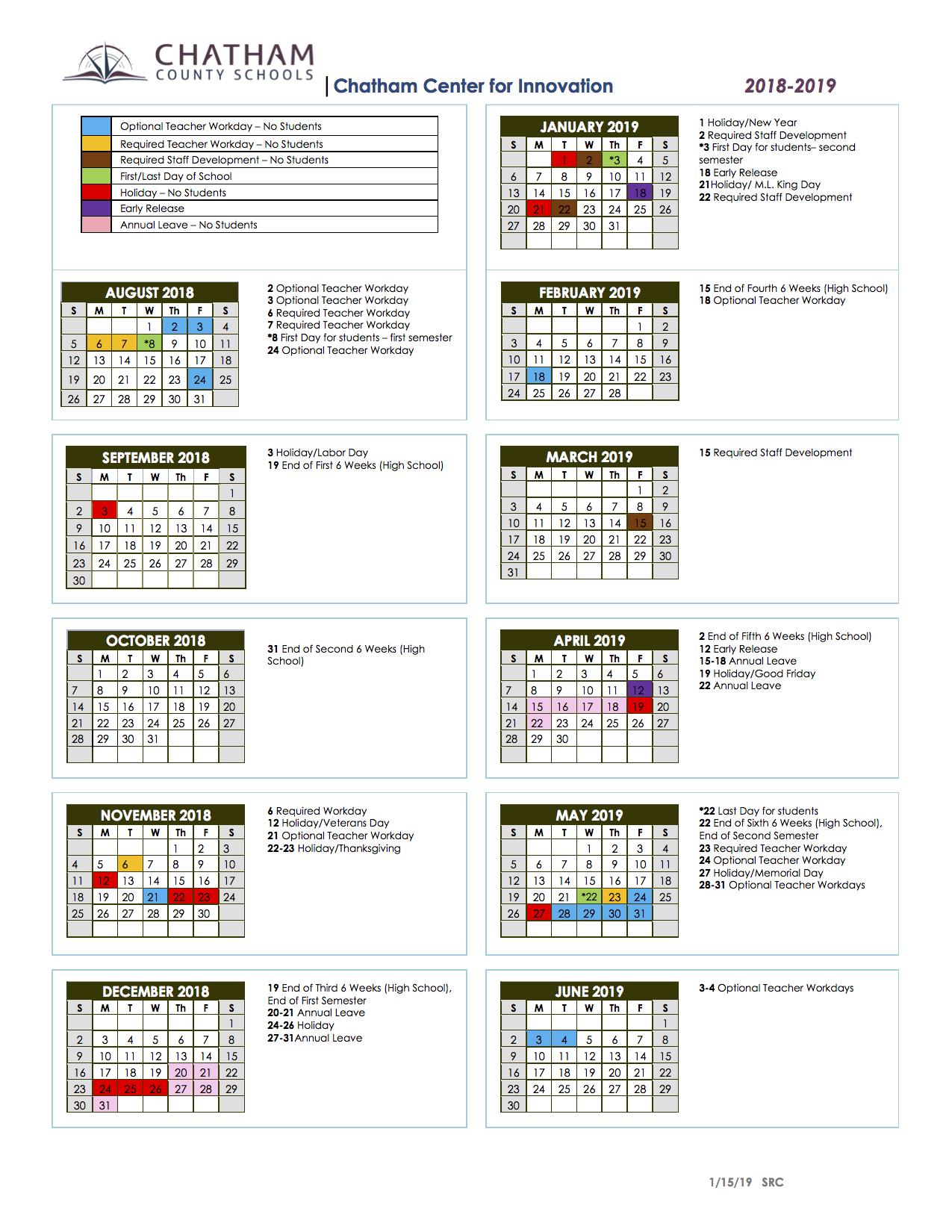 School Calendars / Sage Academy School Calendar For Johnston County Schools Nc Calendar