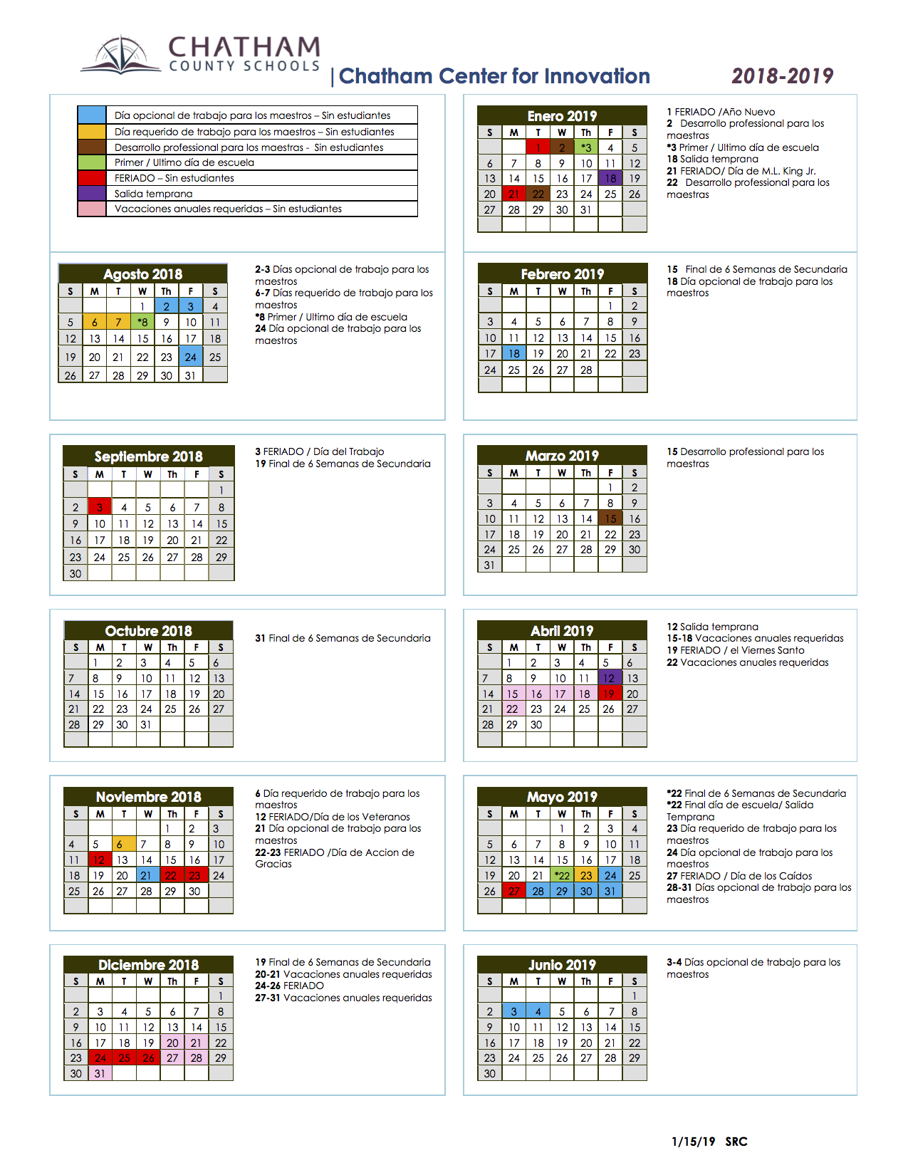 School Calendars / Sage Academy School Calendar Throughout Durham Co Schools Traditional Calendar