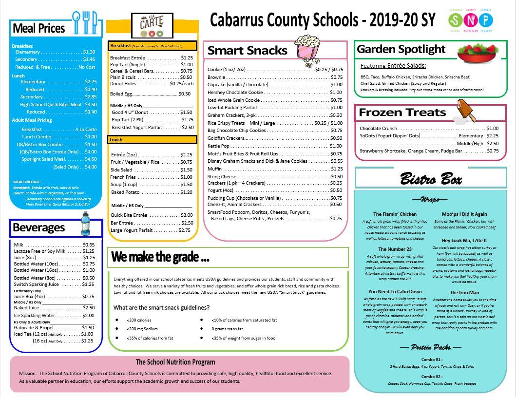School Nutrition / Menus Regarding Moore County Schools Calendar Nc