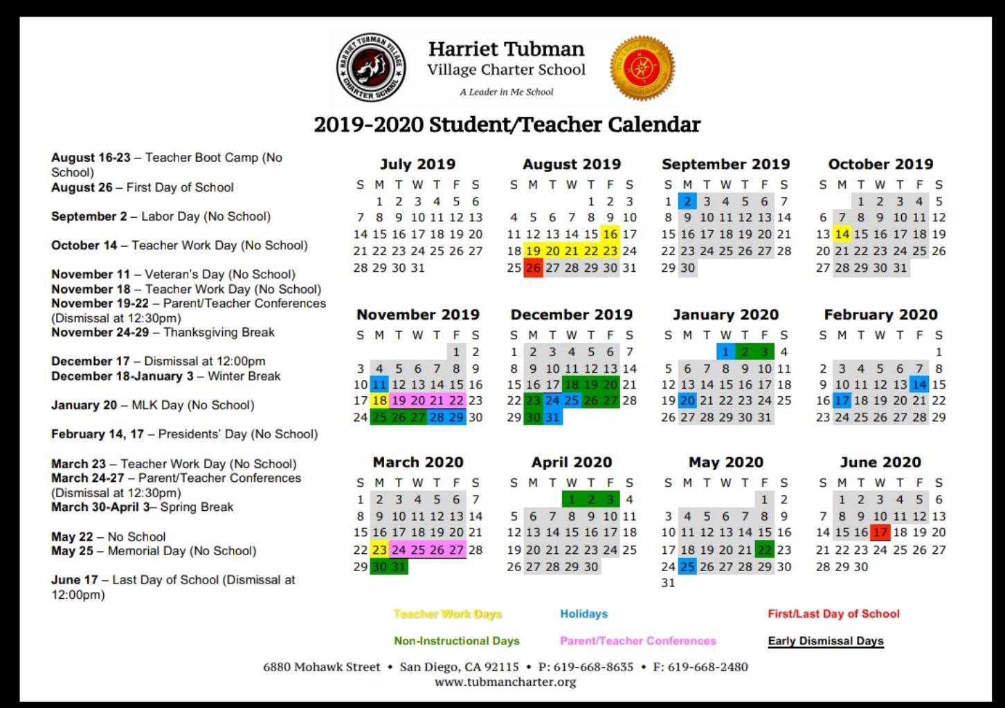 School Year Calendar 2019 20 – School Year Calendar 2019 20 Within San Diego City College Caendar
