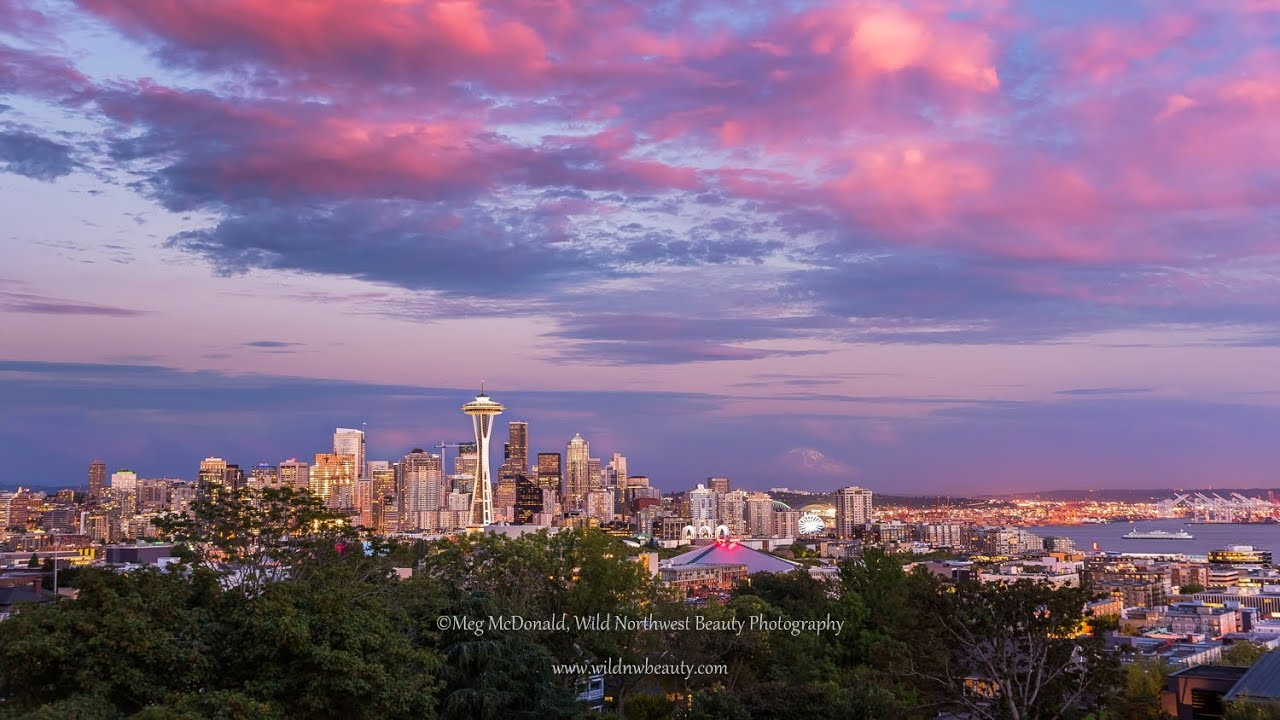 Seattle Kerry Park Sunset (Hd Time Lapse) With Regard To What Time Is Sunset In Zip Code 98446