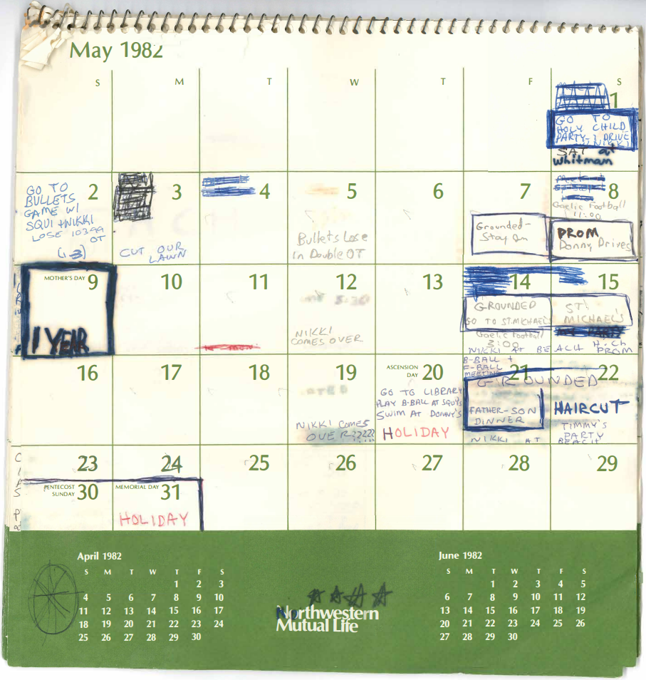See 4 Months Of Brett Kavanaugh's Calendar From 1982 | Pbs With Regard To Nc Court Federal Court Calendar