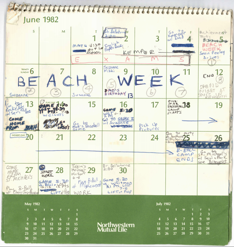 See 4 Months Of Brett Kavanaugh's Calendar From 1982 | Pbs Within Univ Of Rhode Island School Calendar
