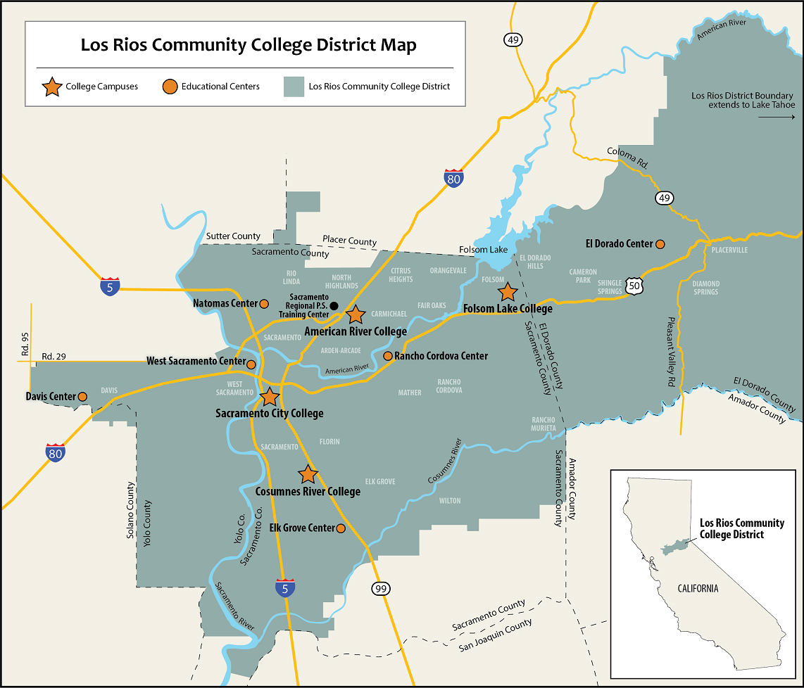 Service Area Maps | Los Rios Community College District With Regard To Calendar Of American River College 2020