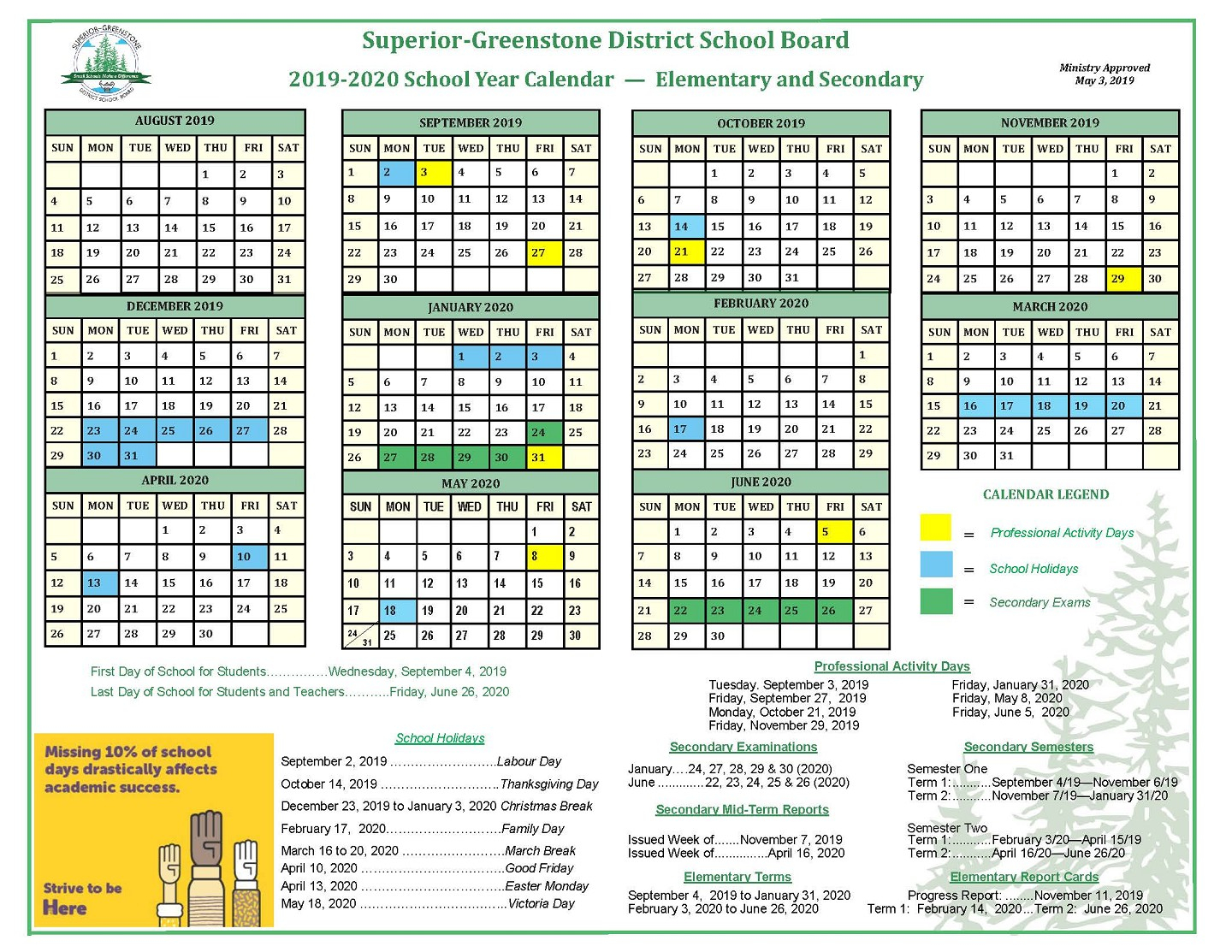 Sgdsb – School Year Calendar Regarding Green Bay School District Calendar