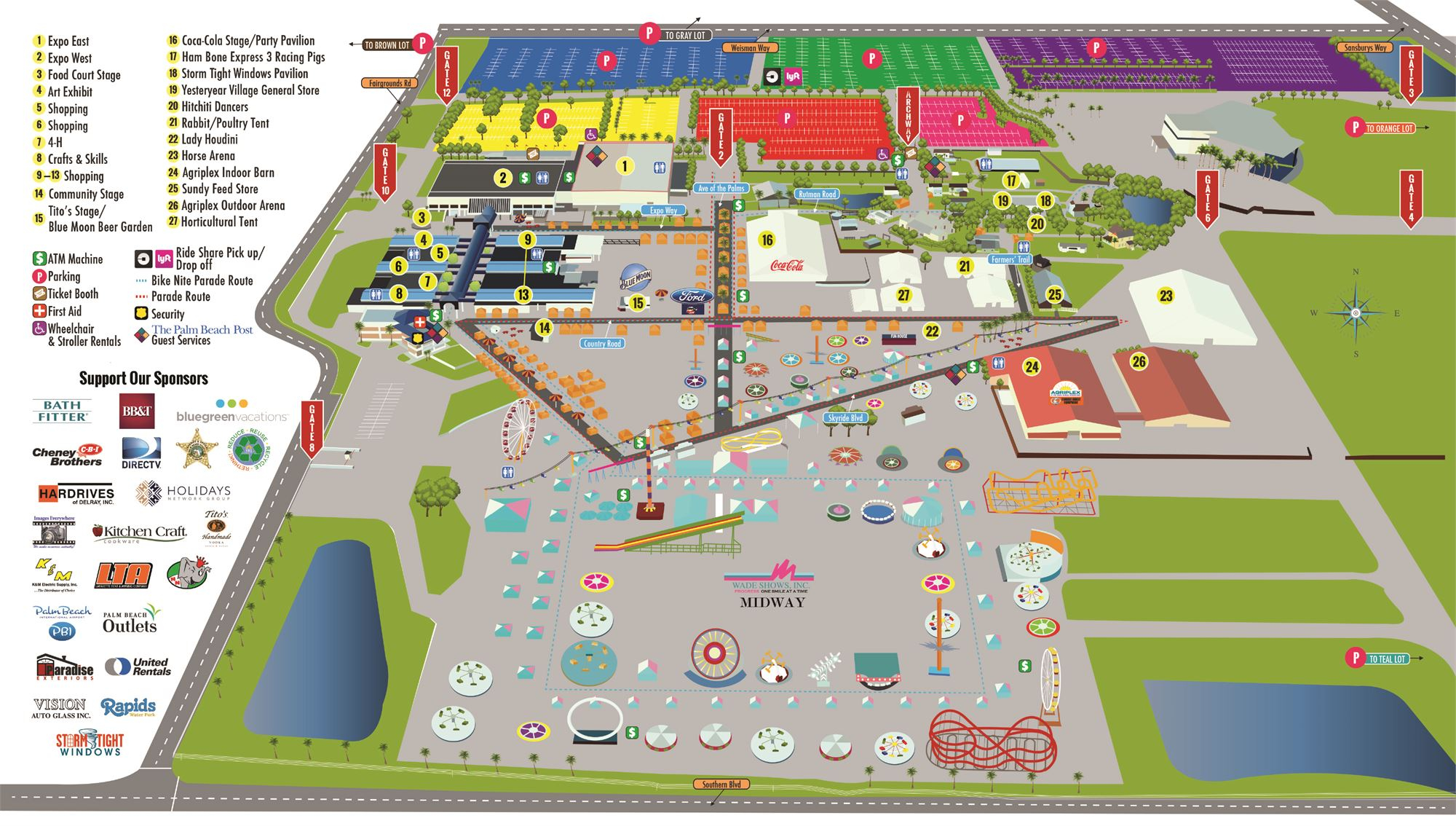 South Florida Fairgrounds Map | Florida Map 2018 Inside Events South Florida Fair Grounds