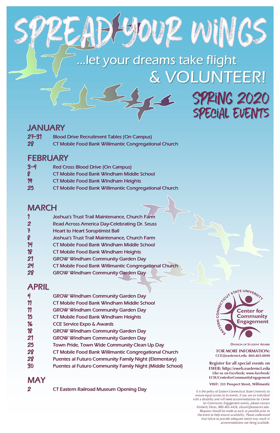 Special Events – Eastern Pertaining To Eastern Ct State University Calender