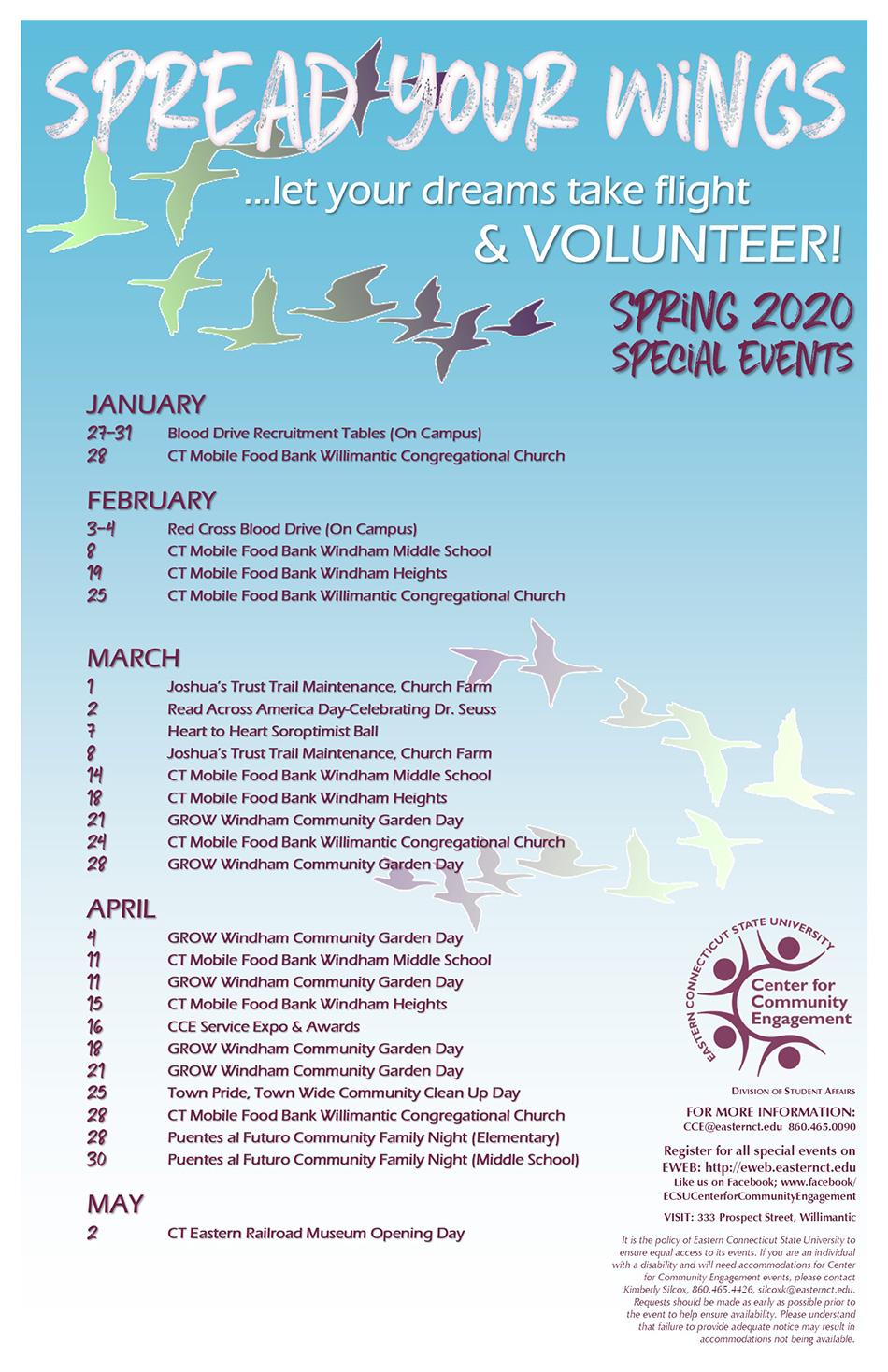 Special Events - Eastern Regarding Eastern Connecticut State University Calendar