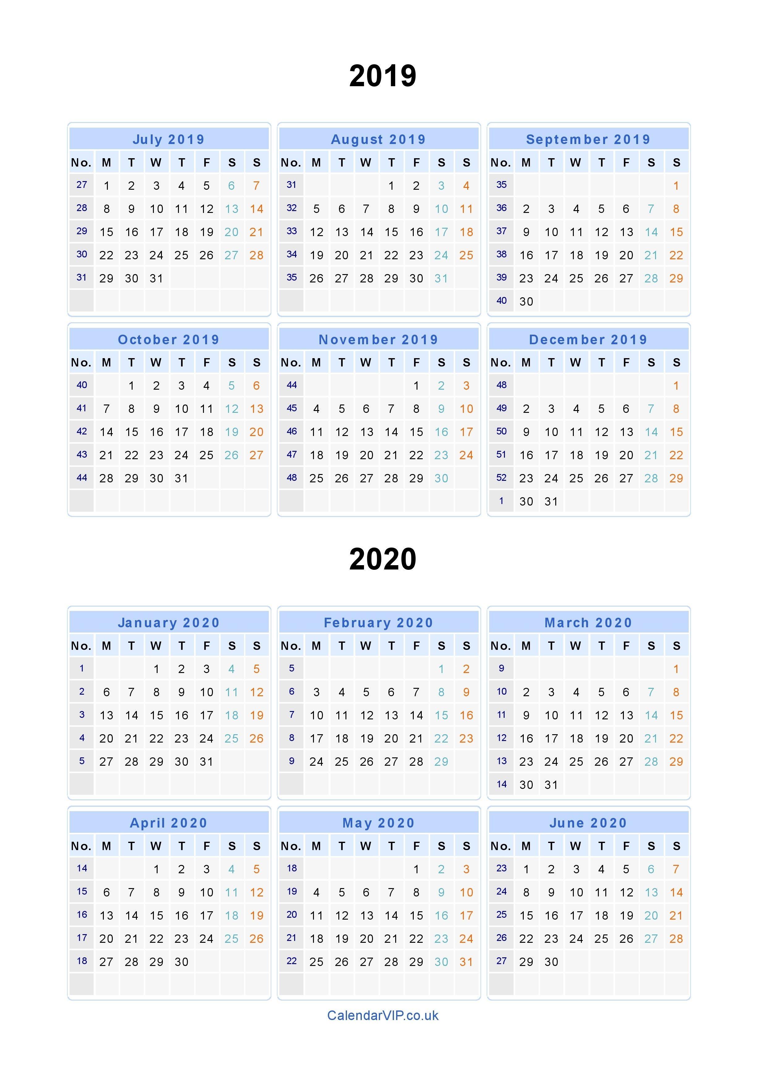Split Year Calendars 2019 2020 – Calendar From July 2019 To In Uri Academic Calendar 2021
