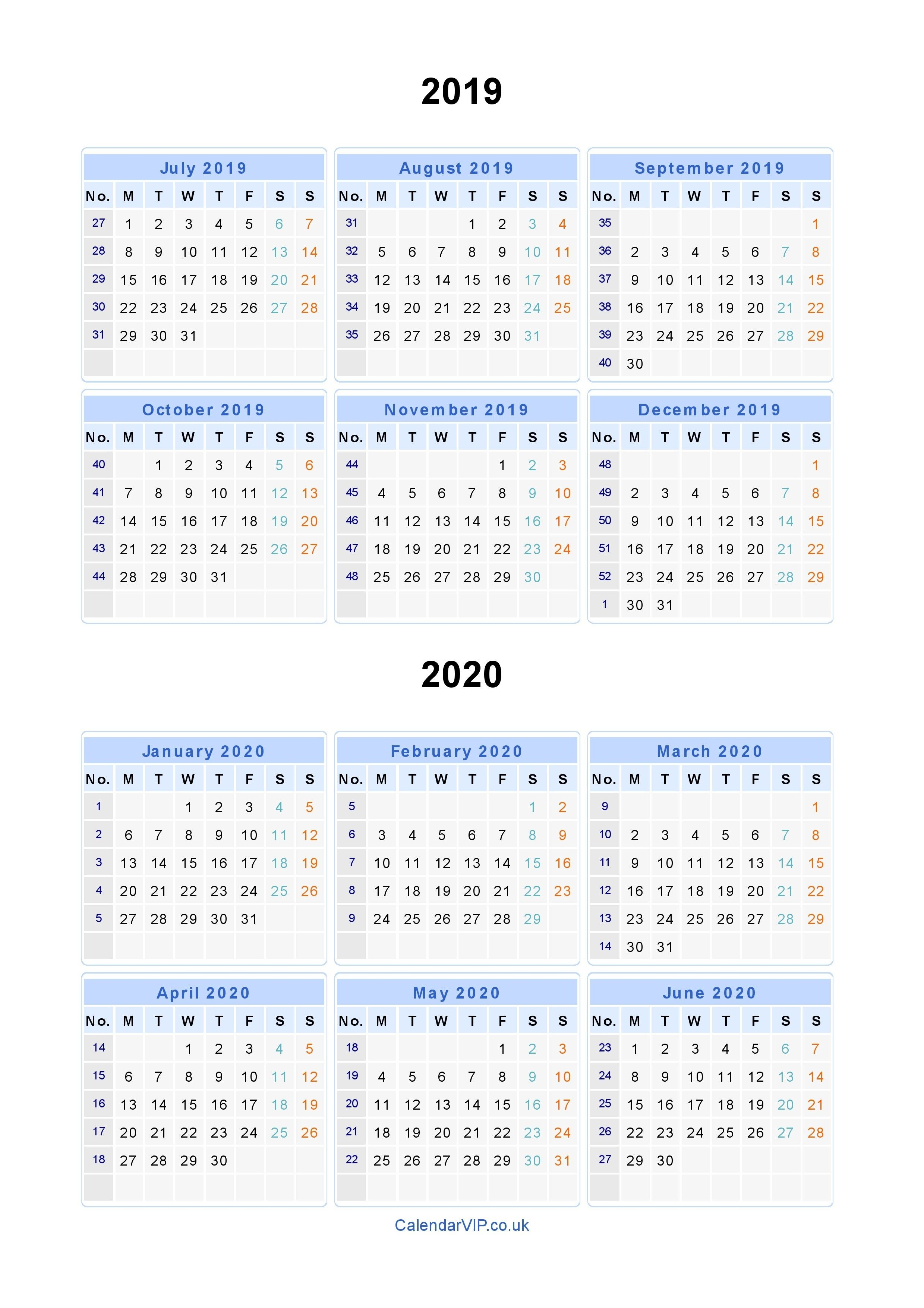Split Year Calendars 2019 2020 - Calendar From July 2019 To With Uri Acadmic Year 2021 - 2020 Schedule
