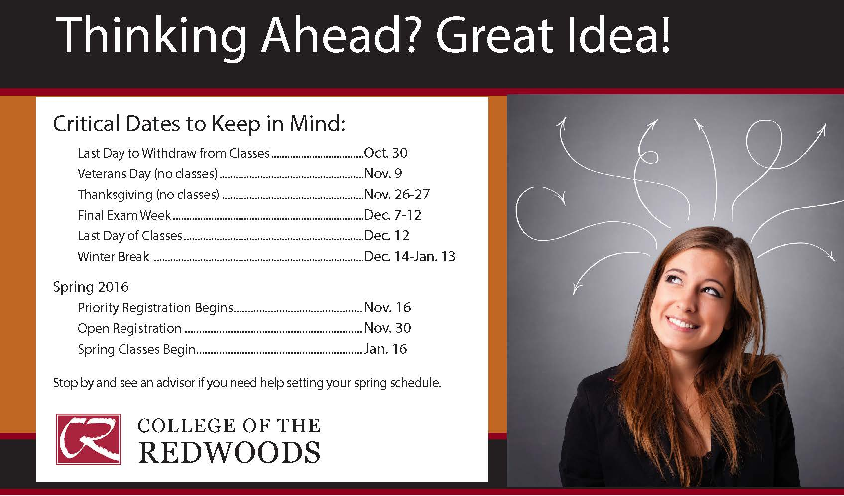 Spring Registration Coming Soon! intended for When Does School Start At College Of The Redwoods After Winter Break