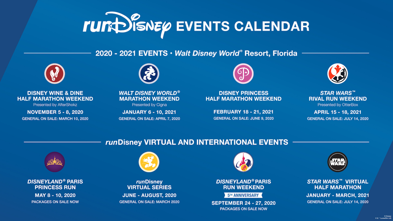 Start Planning Your Rundisney Race Calendar For 2020 2021 With 2021 Extra Magic Hours Calendar