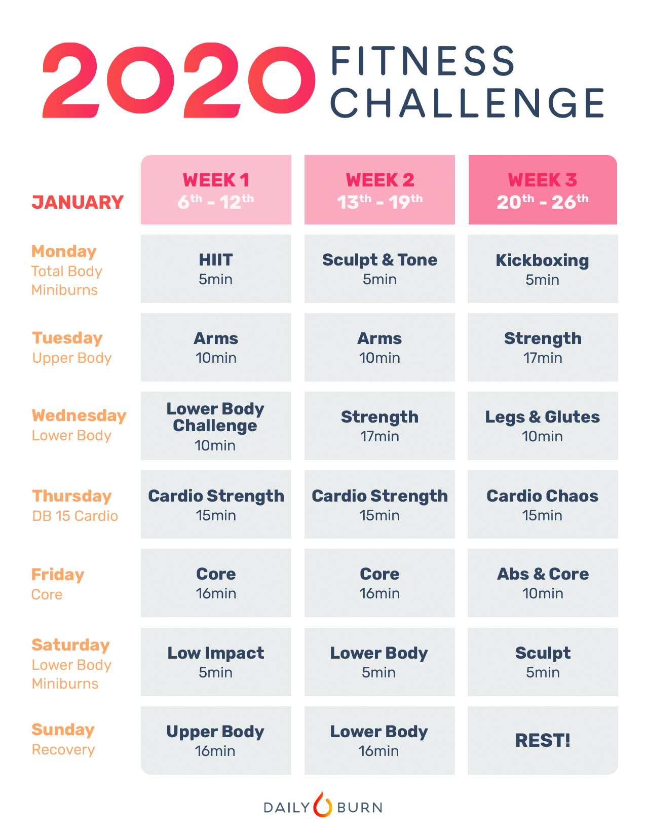 Start Your New Year Off Right With The 2020 Fitness For January Fitness Printable Challenge