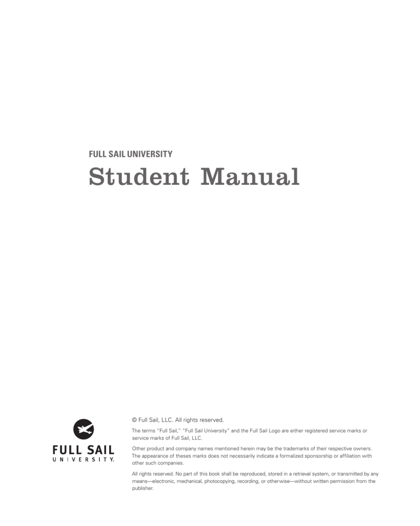 Student Manual - Full Sail University For Is Full Sail Quarter Or Semester
