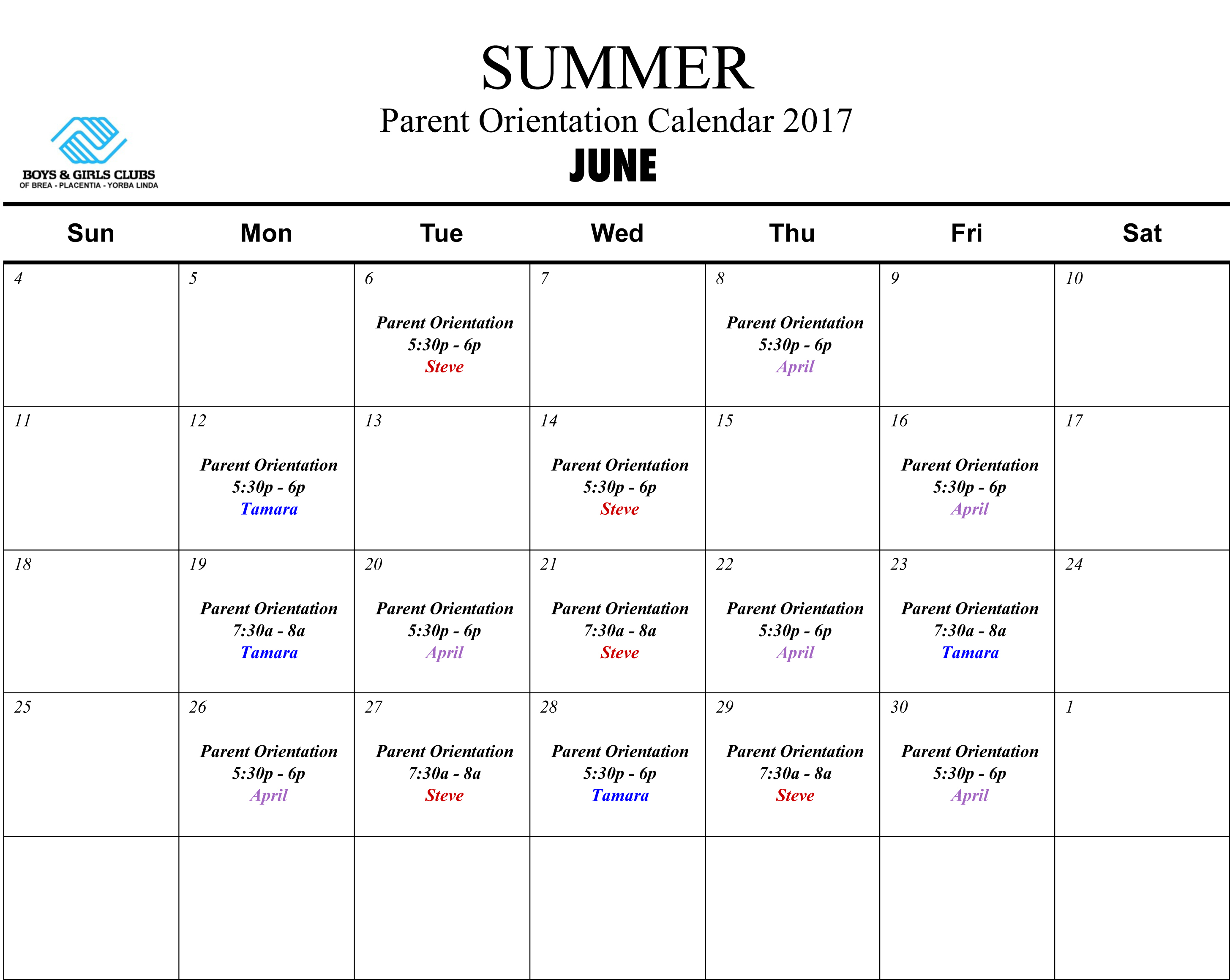 Summer At The Club | Boys & Girls Clubs In Boys And Girls Club Program Program Calendar