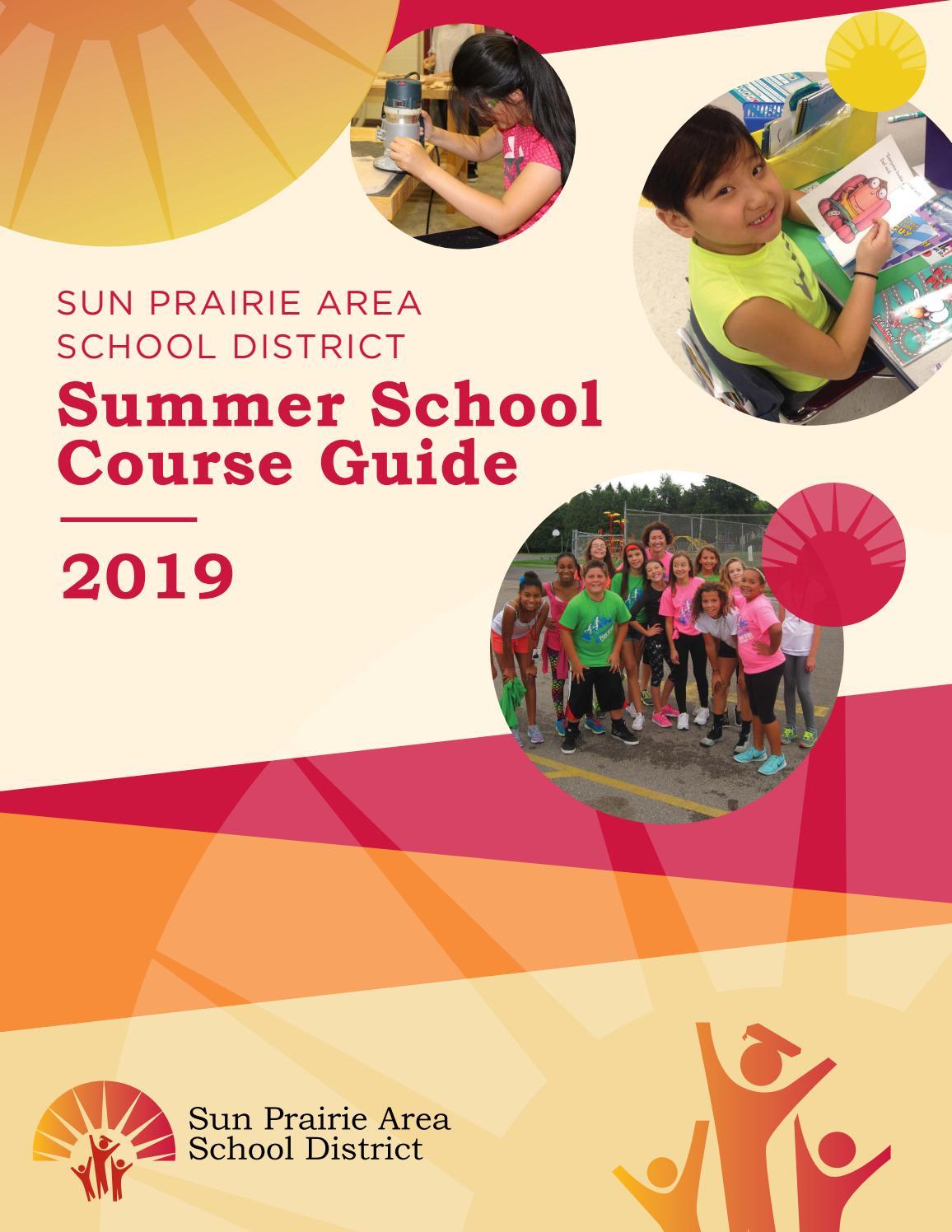 Summer School Course Guide 2019Sun Prairie Area School With Regard To Sun Prairie Calendar School District