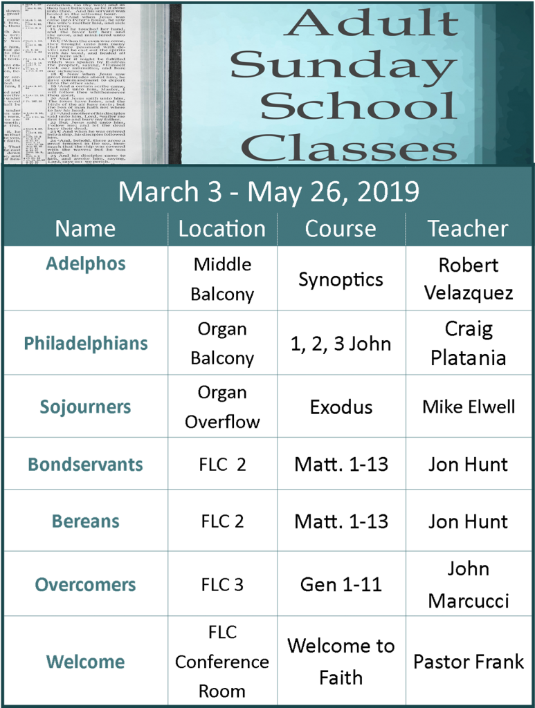 Sunday School All Ages – Faith Bible Church Intended For North Penn School District Calendar 2021 20
