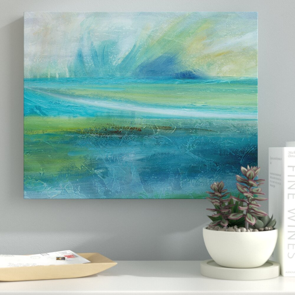 'sunrise Splash' Oil Painting Print On Wrapped Canvas Pertaining To Zip Code 71112 Sunrise Sunset
