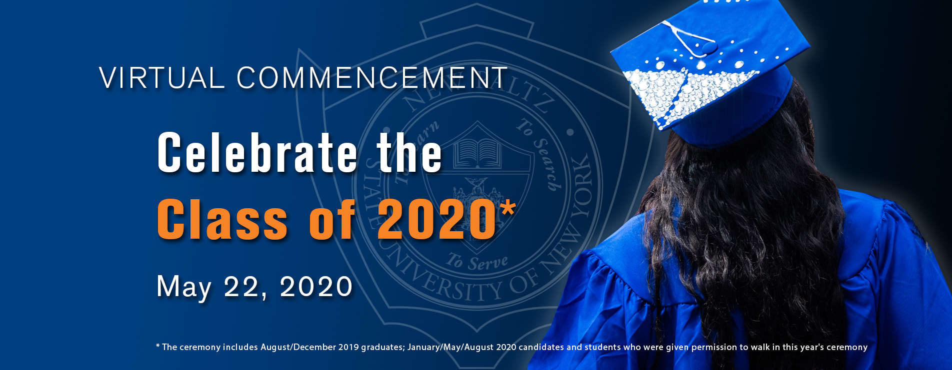 Suny New Paltz - Virtual Commencement 2020 Within Suny New Paltz School Year Calendar