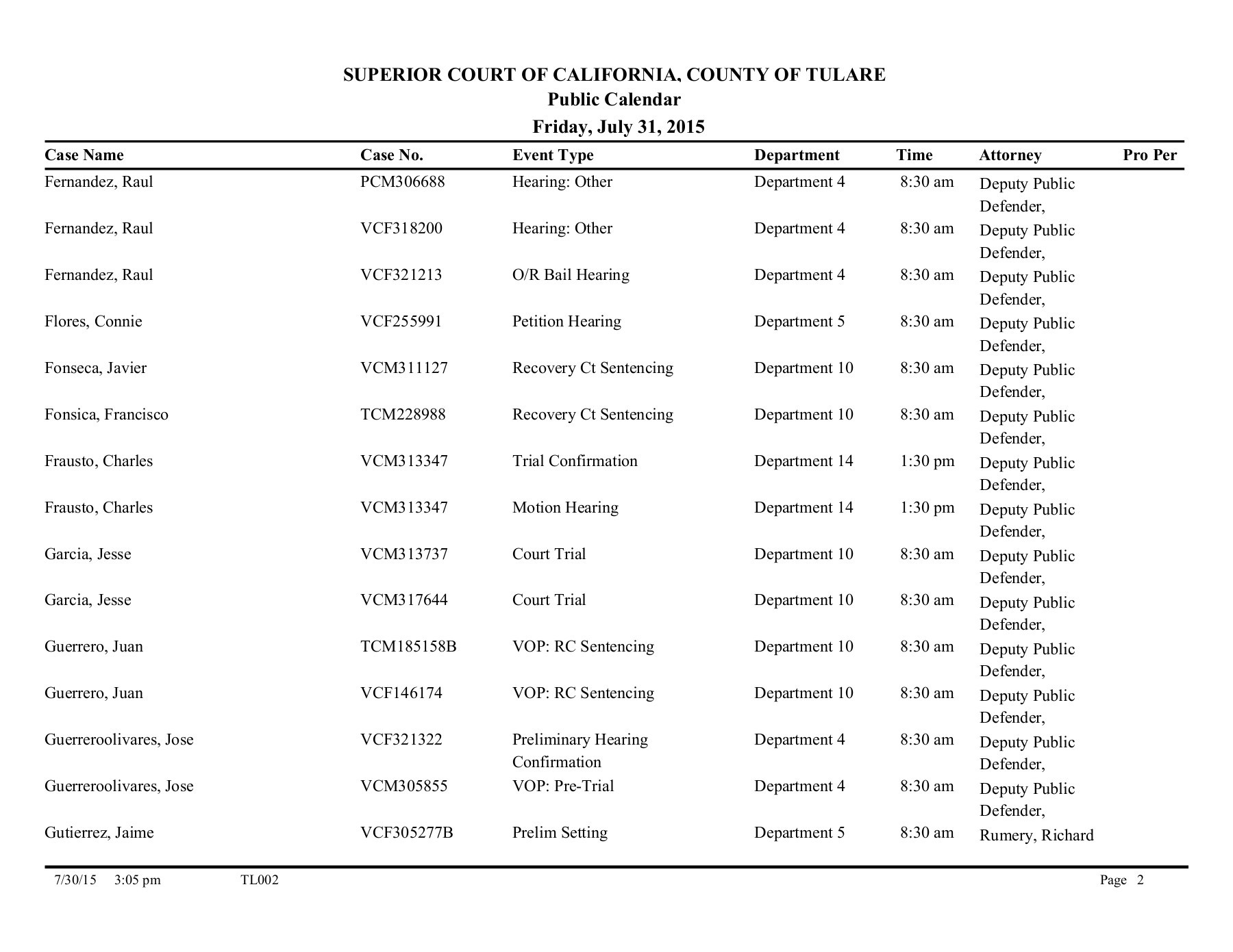 Superior Court Calendar – Visalia Regarding Monterey County Court Calendar