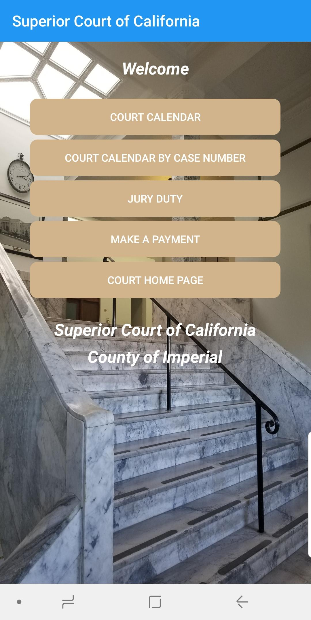 Superior Court Of Ca Imperial Для Андроид - Скачать Apk with Imperial County Superior Court Calendars