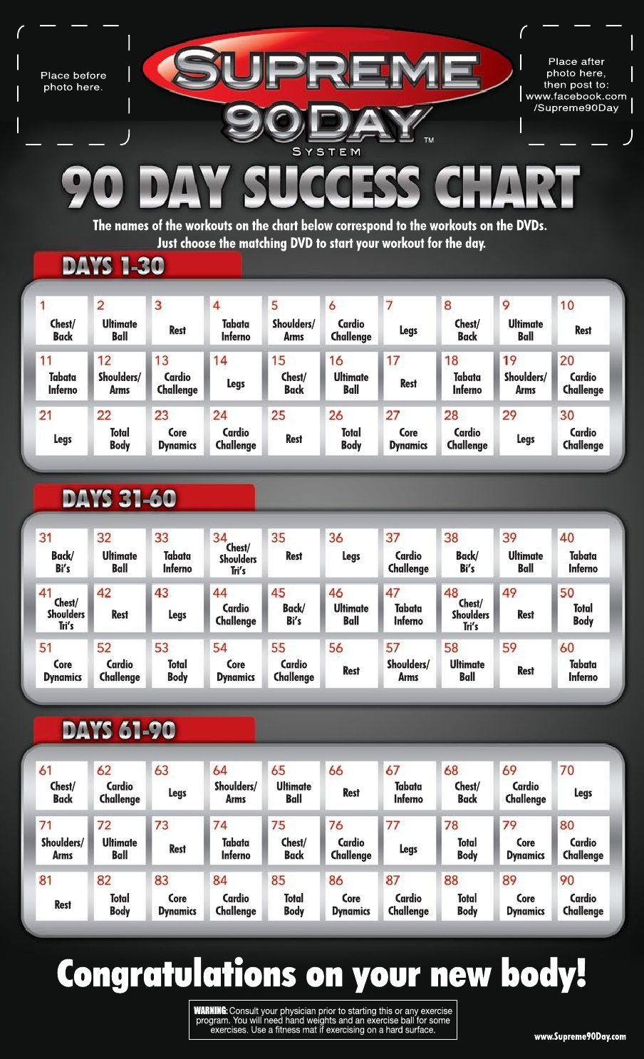 Supreme 90 Day Calendar | Supreme 90 Day Workout, 90 Day Inside Supreme 90 Day Calendar Pdf