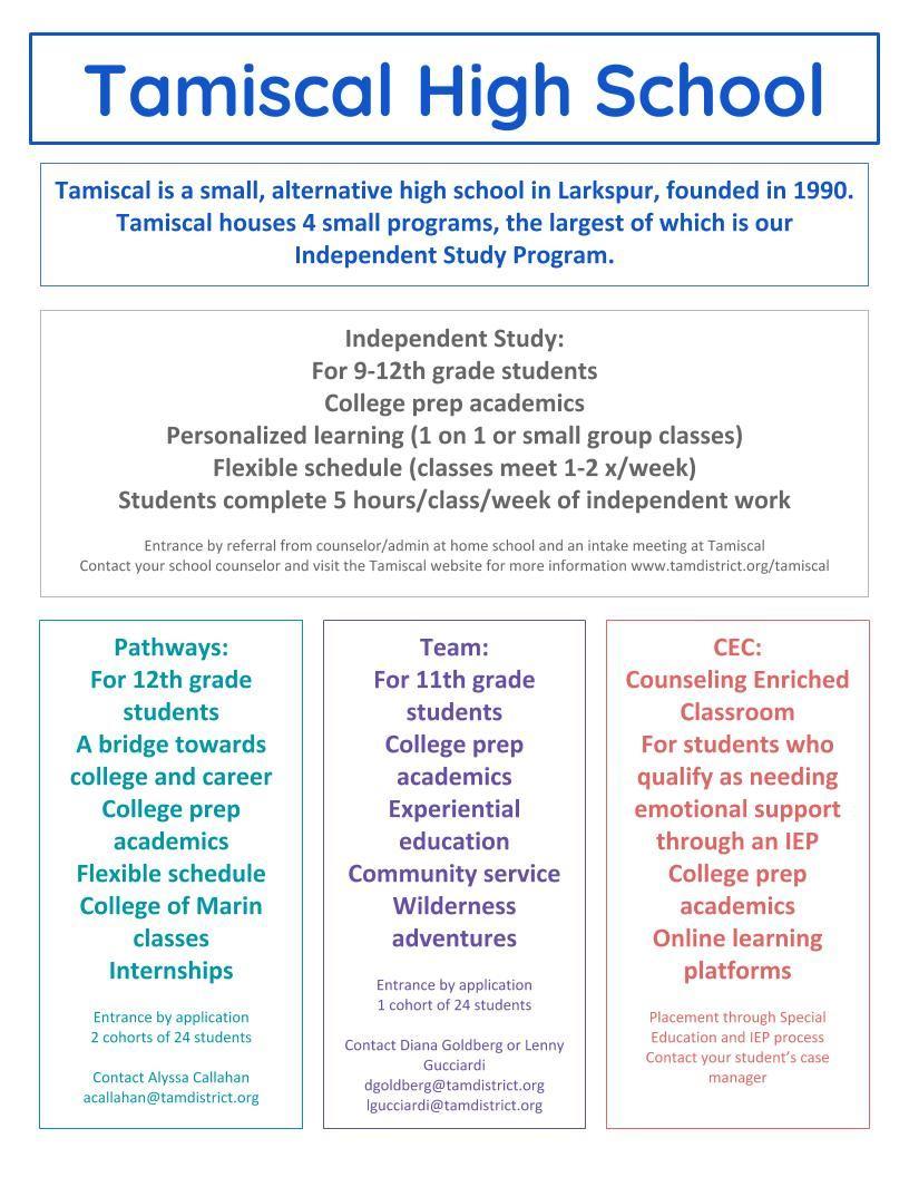 Tamiscal High School / Overview With Regard To San Fernando High School Spring Break Calendar