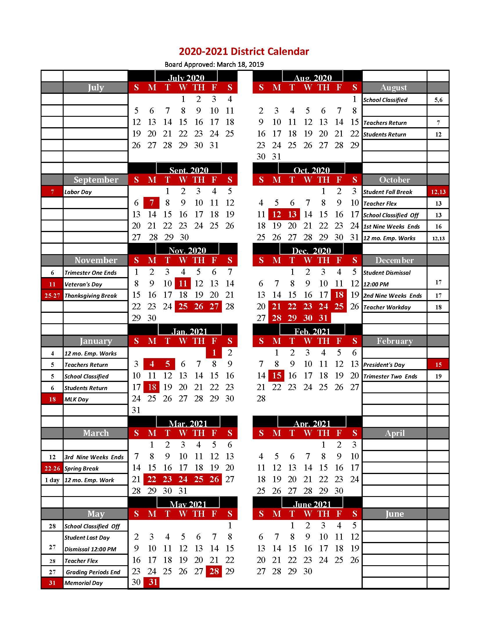 Tcs Calendar 2020 2021 / 2020 2021 Tcs Calendar Regarding Chamberlain Academic Calendar 2020