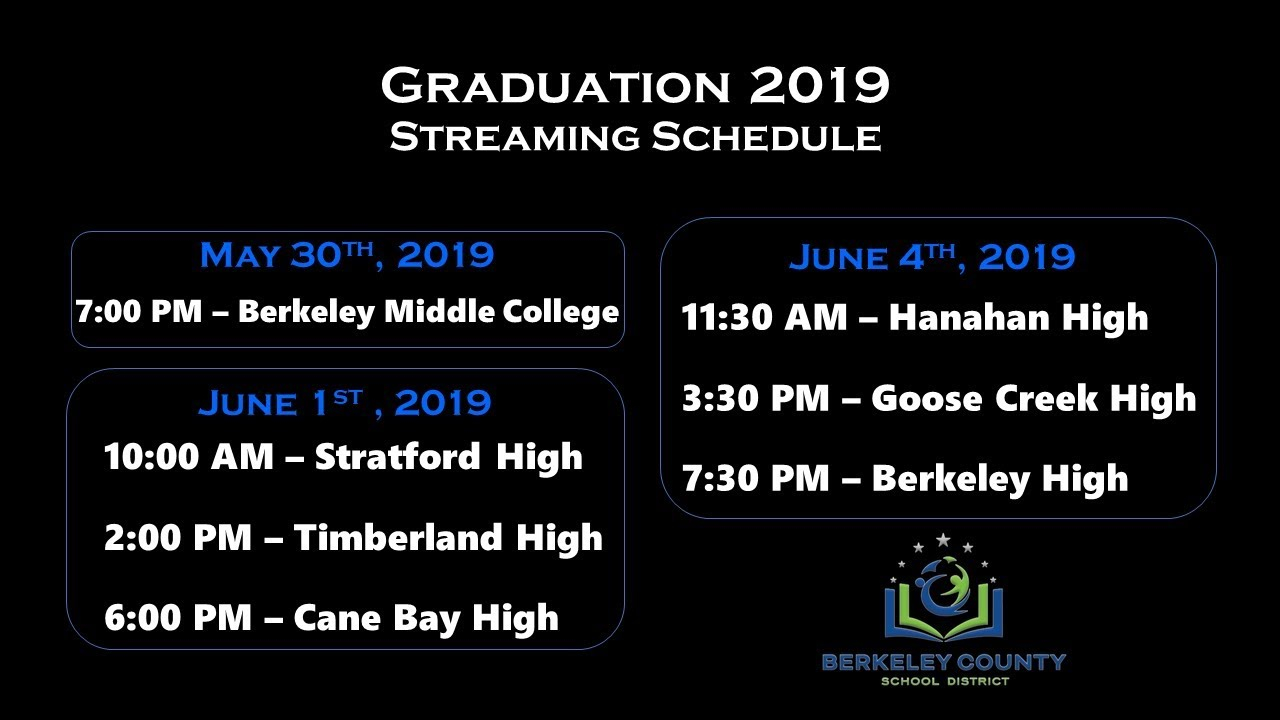 Technology / Commencement Ceremonies Pertaining To Berkeley County Sc School District Calendar