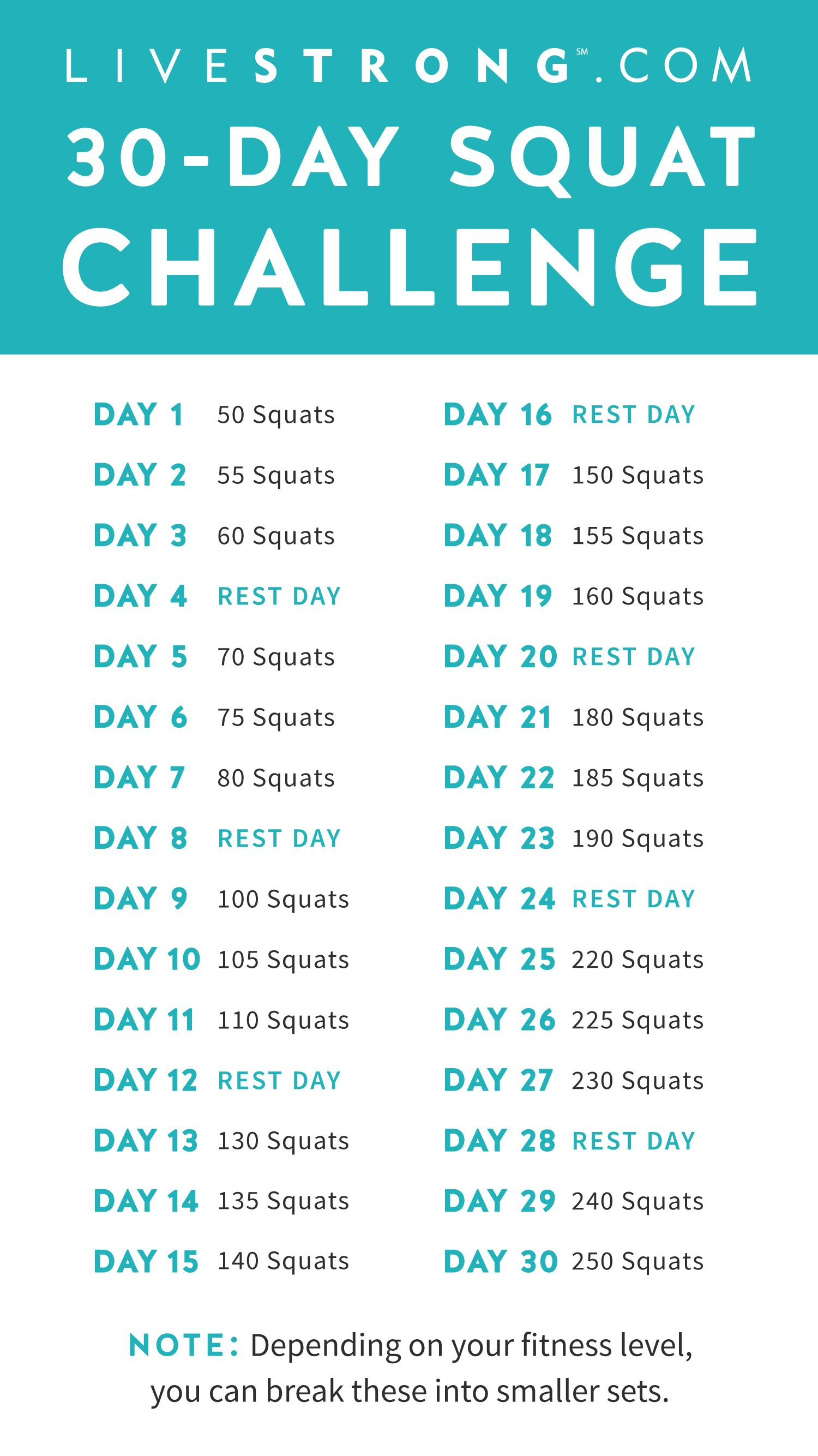 The 30 Day Squat Challenge | 30 Day Squat Challenge, 30 Day With 30 Day Squat Calender