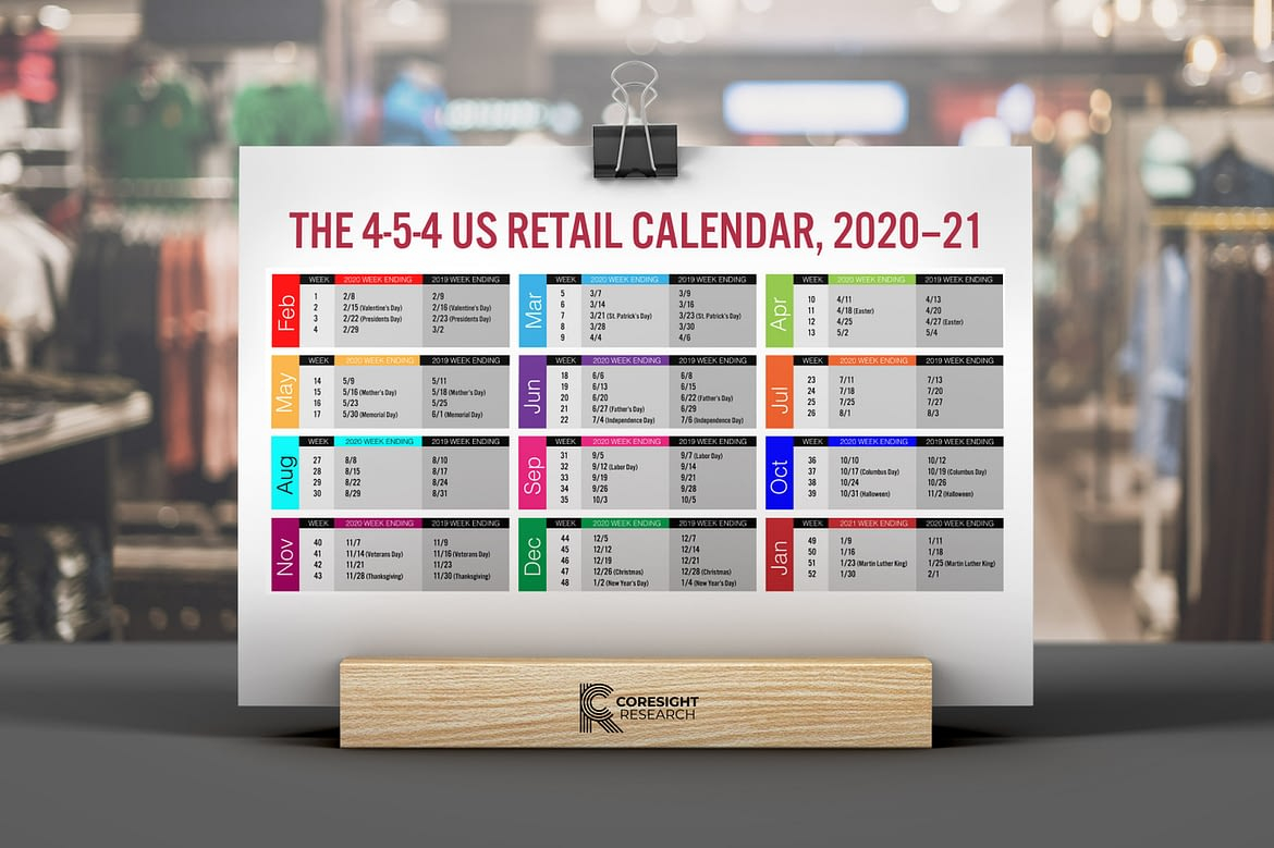 The 4 5 4 Us Retail Calendar, 2020–21 | Coresight Research Pertaining To 454 Calendar For 2020