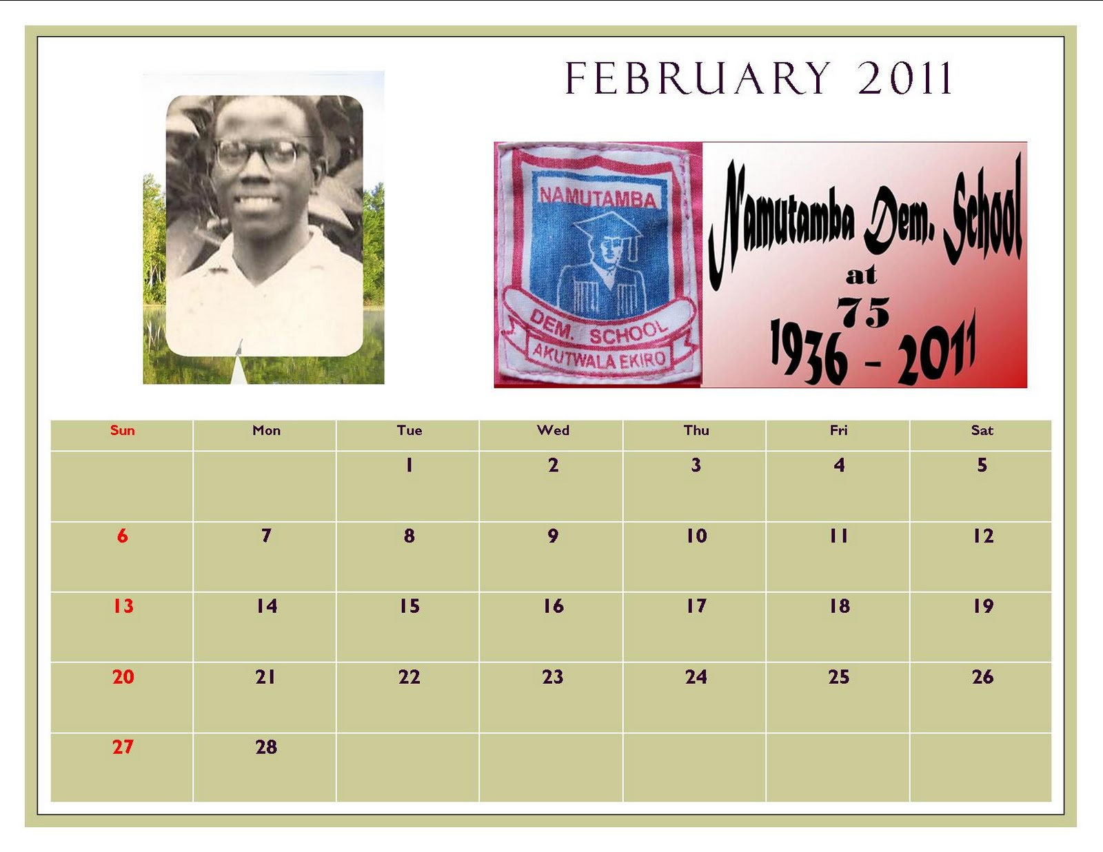 The Glory Of Namutamba: Namutamba Demonstration 75 Year inside Dsm School Calendar