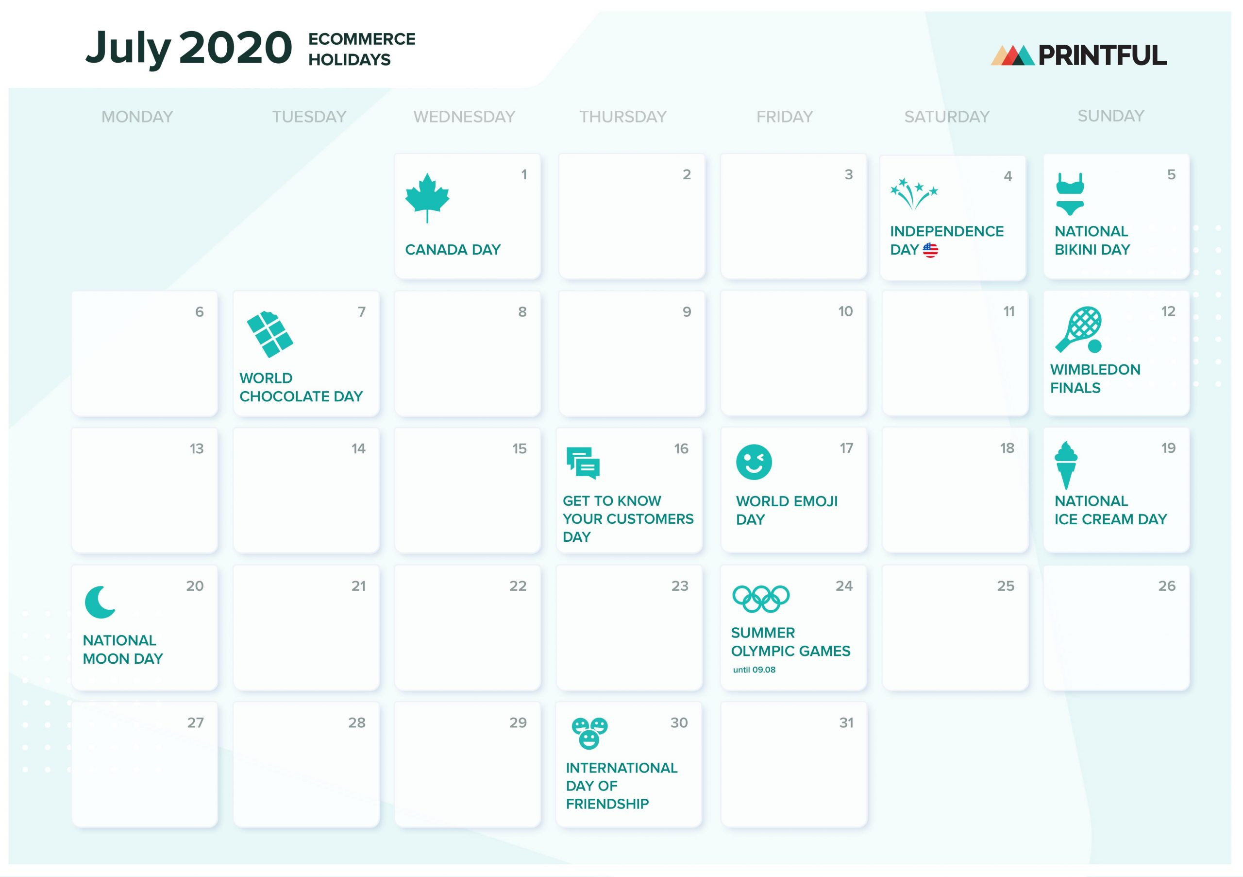 The Ultimate 2020 Ecommerce Holiday Marketing Calendar Regarding Mexican Calendar 2021 With St Names