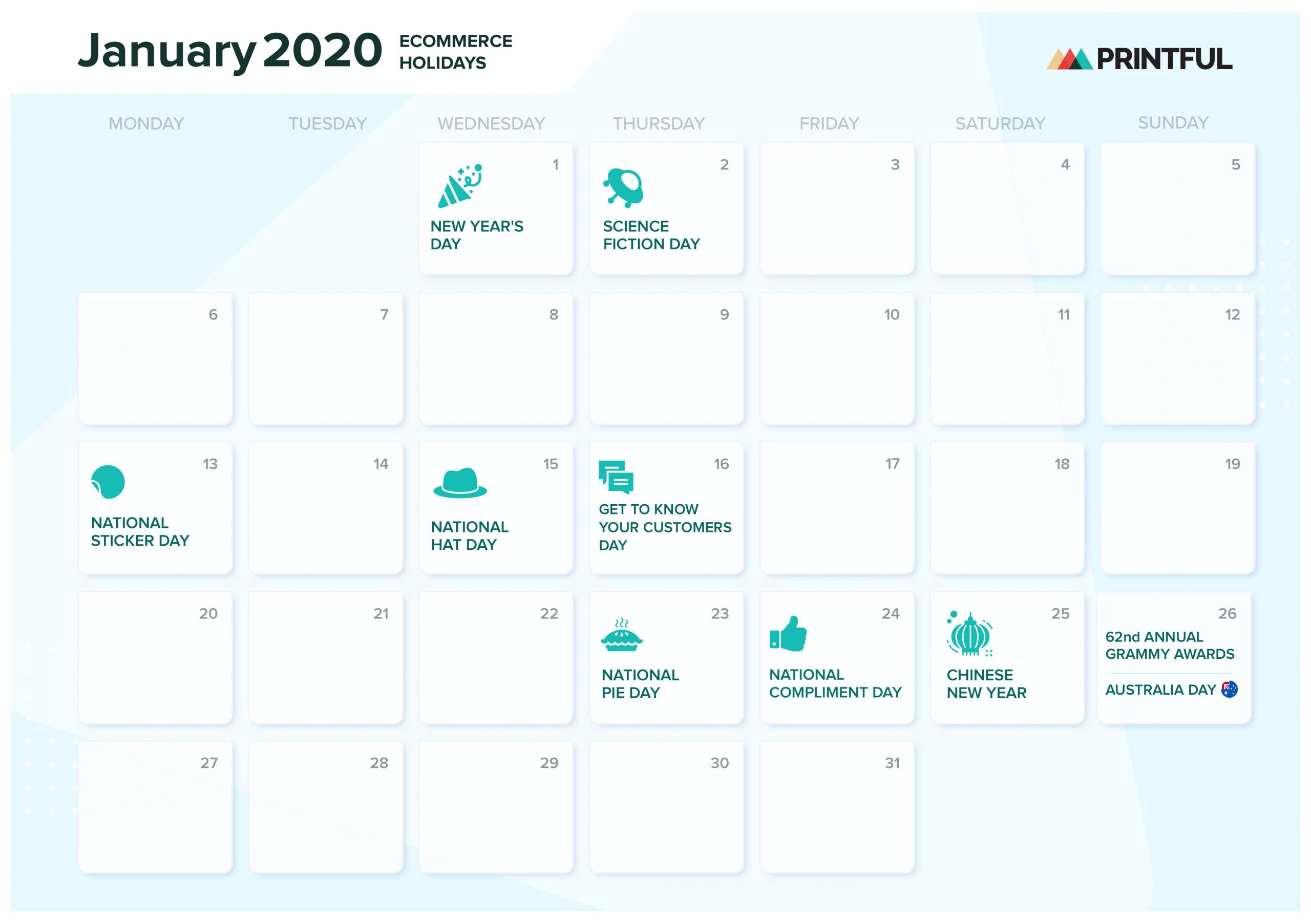 The Ultimate 2020 Ecommerce Holiday Marketing Calendar Within Calendar With November 2021 Mexican Names
