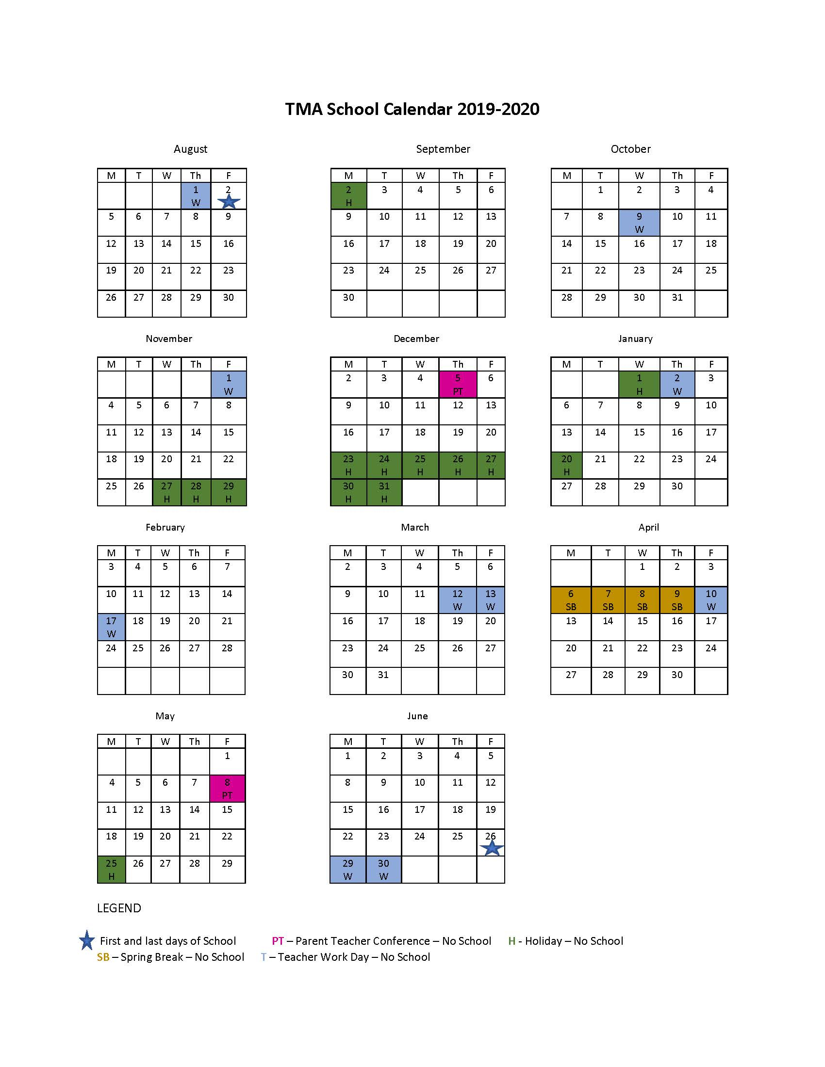 Tma School Calendar 2019 2020 – Triangle Montessori Academy Within Durham Co Schools Traditional Calendar