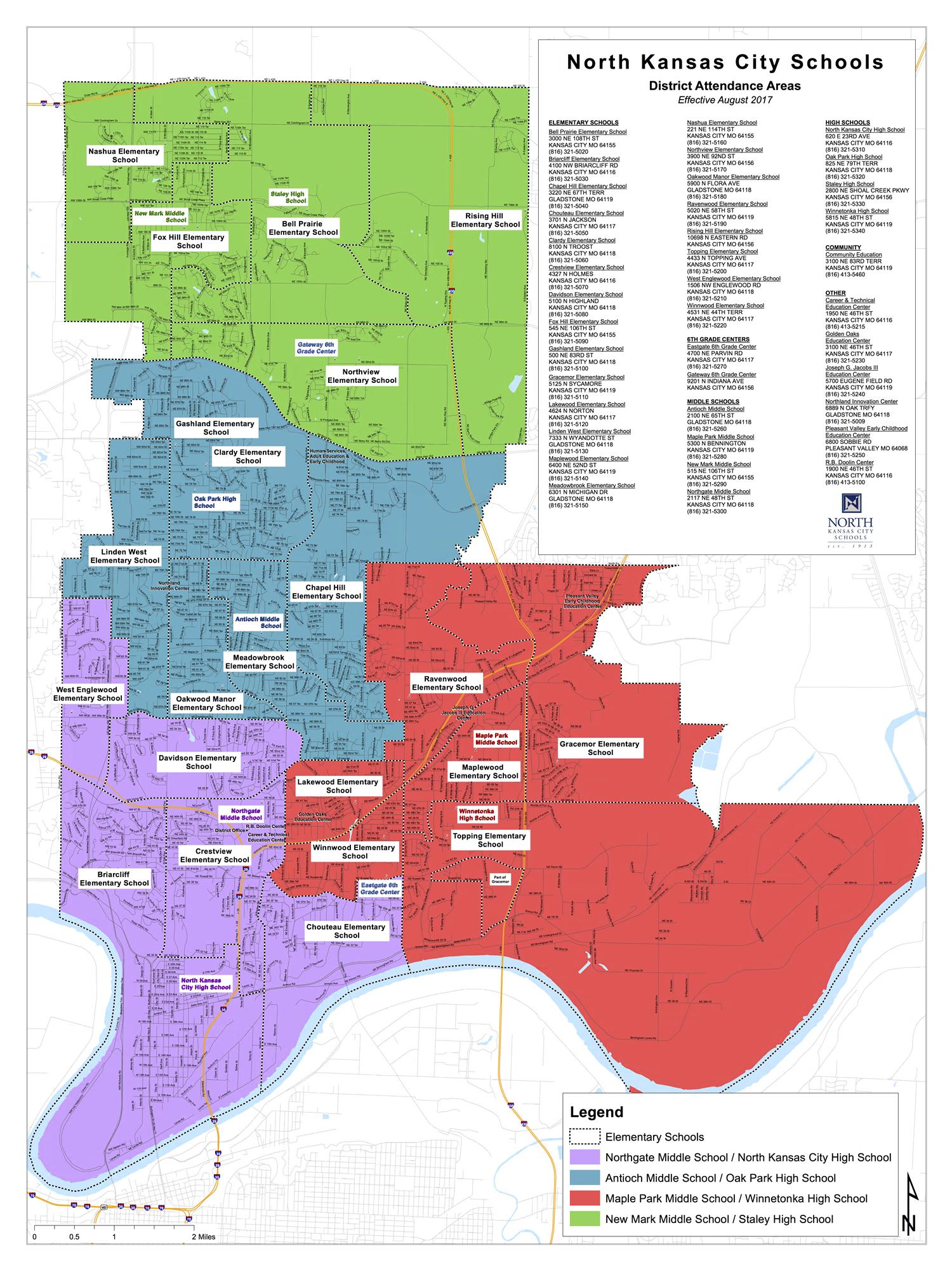 Transportation / Boundaries & Locations Maps Regarding North Kansas City School District Calendar
