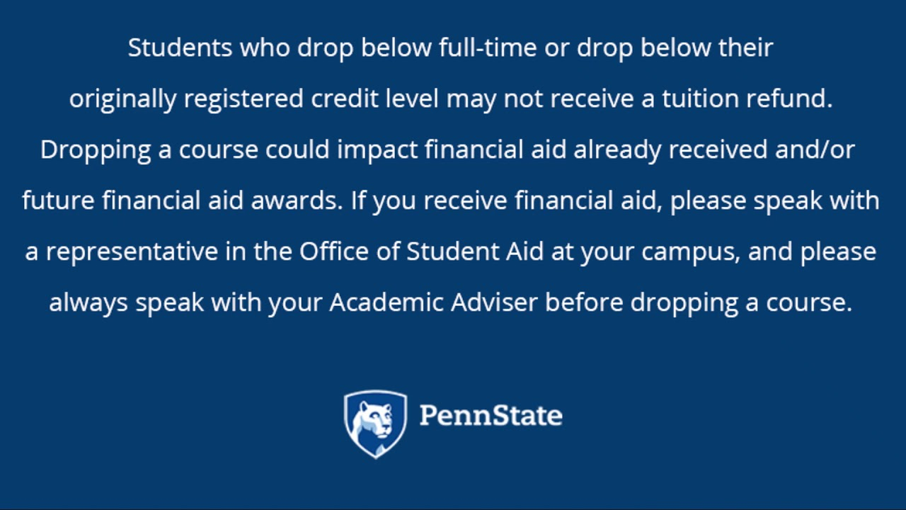 Tuition Adjustment Calendar | Penn State Altoona Regarding Penn State Altoona School Calendar