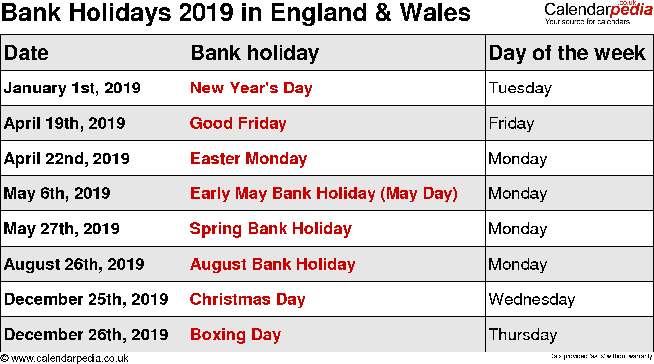 Uk Holidays 2019 (With Images) | August Holidays, August Within Uri Academic Calendar Holiday