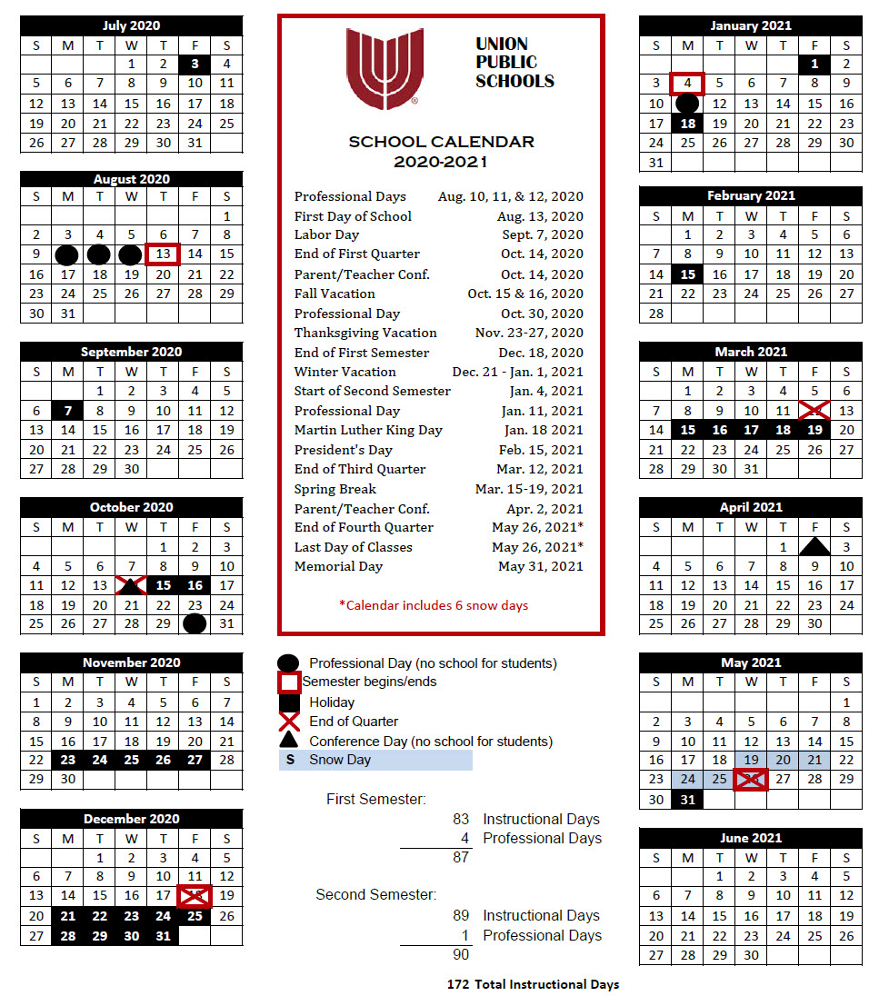 Union Public Schools - District News 19 20 Within Broken Arrow Public Schools Instructional Calendar 2021