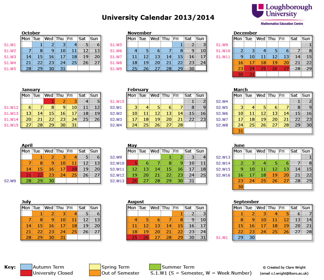 University Calendar 2013/2014 | Teaching And Learning Blog With University Of South Florida Academic Calendar Downloadable